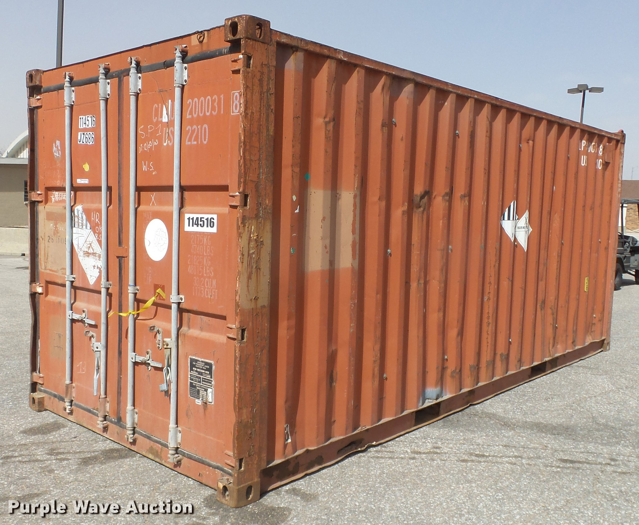 Nathani steel shipping container | Item EA9832 | SOLD! April