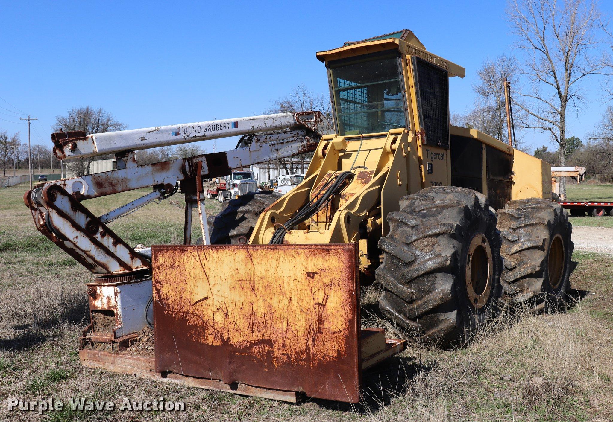 Tigercat 720C feller buncher   Item EJ9764   SOLD! April 5 C
