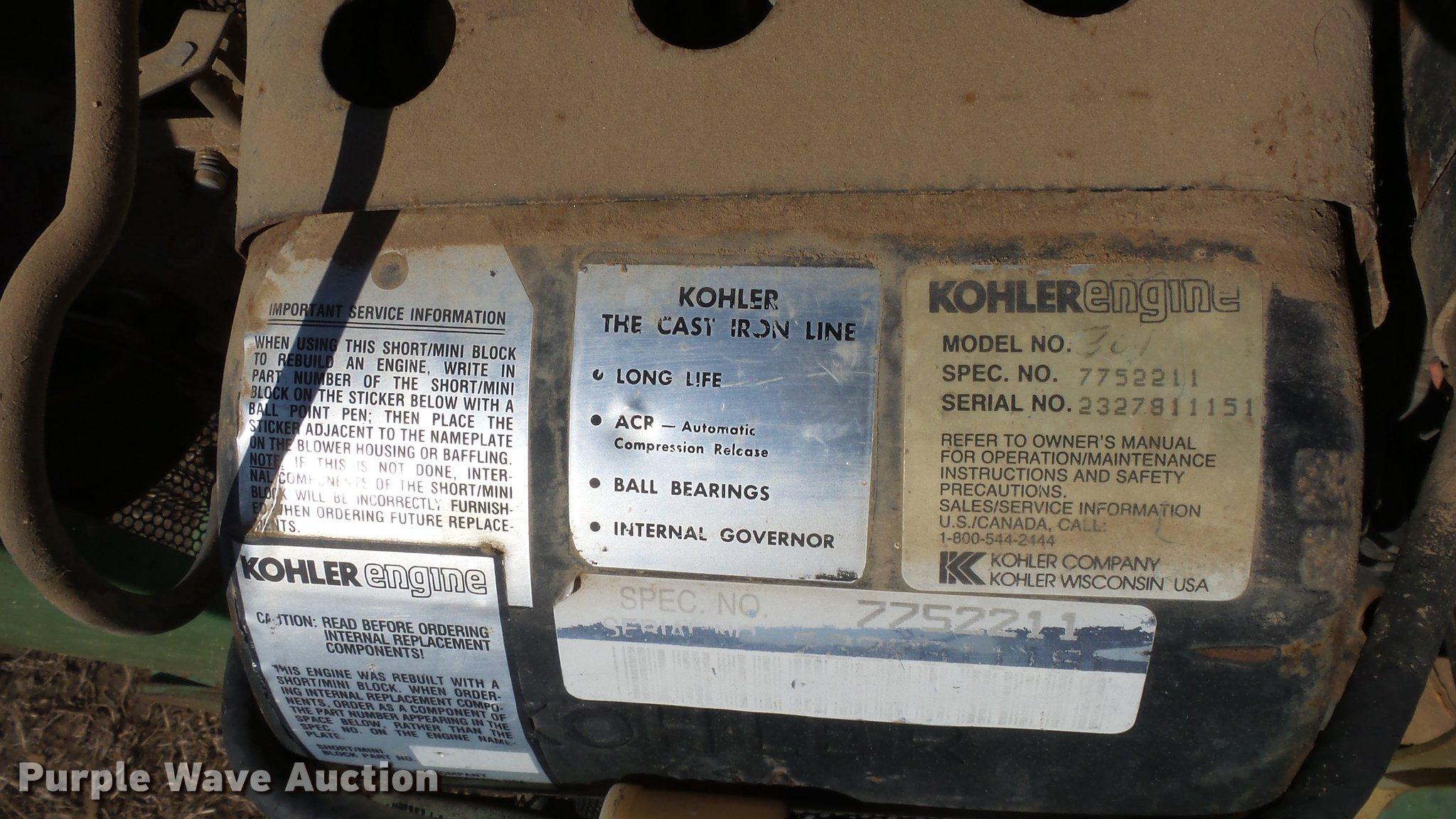 John Deere 112 lawn mower | Item DC0736 | SOLD! April 11 Ag