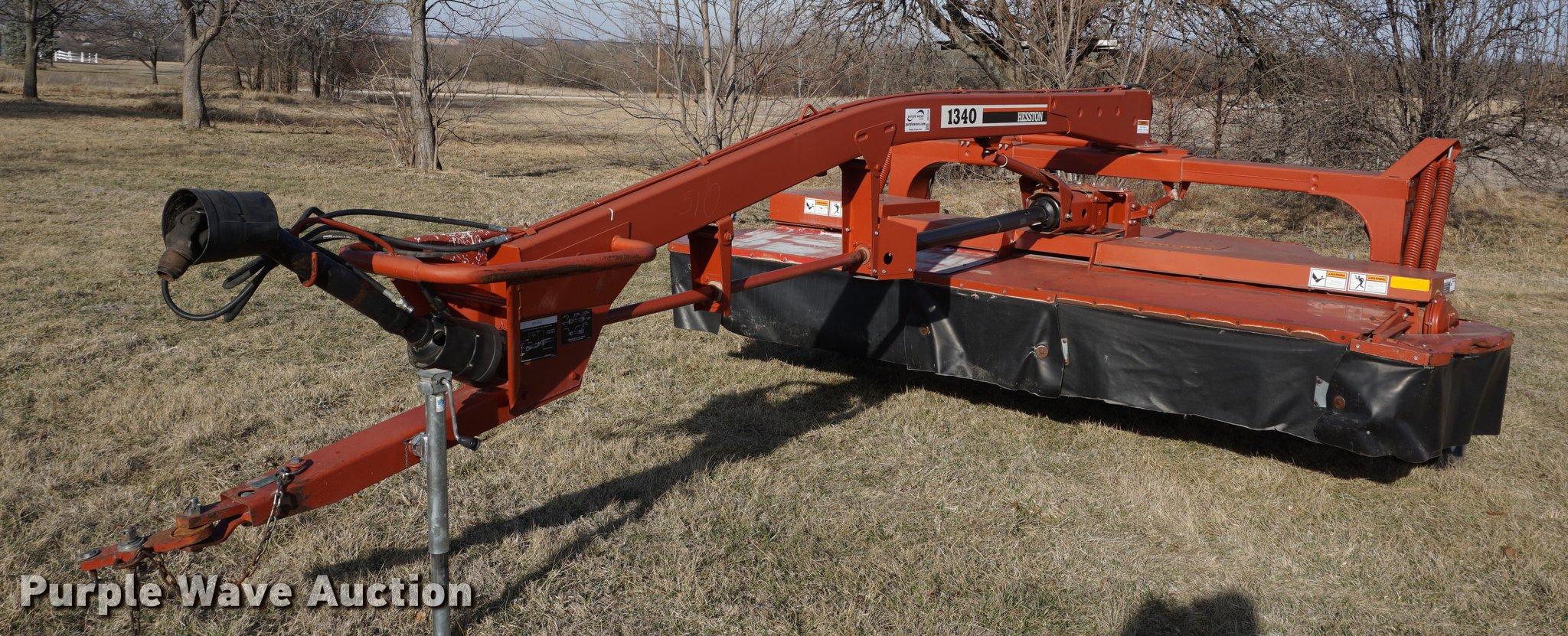 Hesston 1340 Hydroswing discbine mower conditioner | Item DE