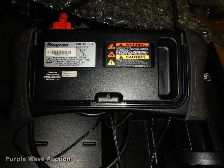 snap on solus pro eesc316 scanner item en9143 sold apri rh purplewave com  snap on solus pro scanner manual