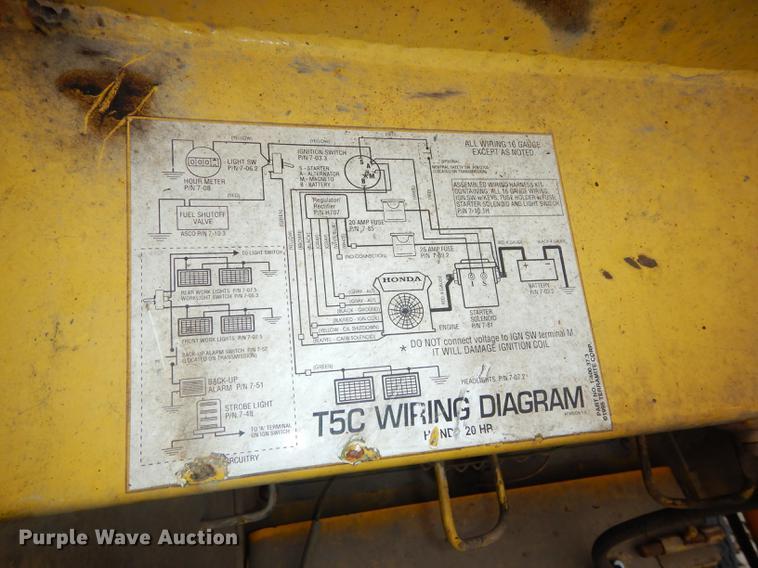 terramite t5c backhoe item dc0370 sold! april 18 vehicle Terramite T5 dc0370 image for item dc0370 terramite t5c backhoe