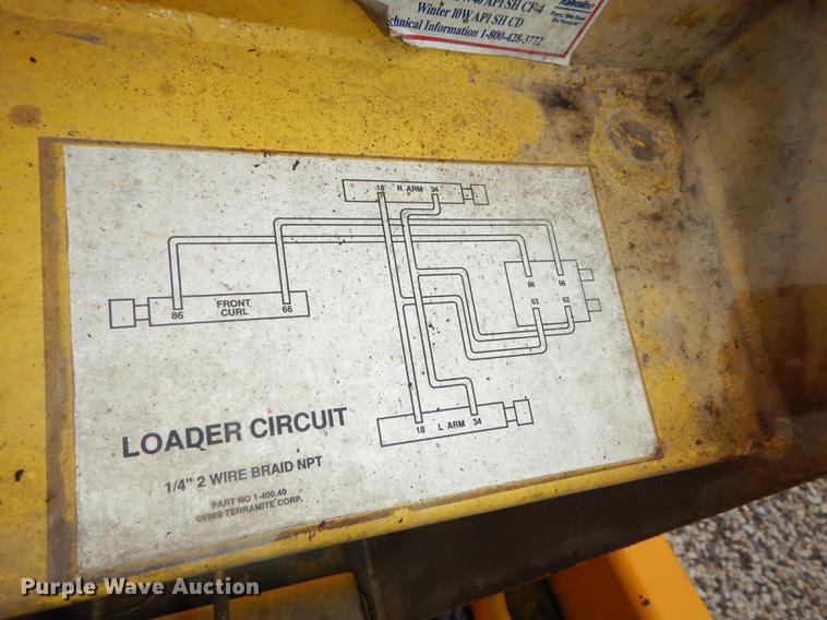 terramite t5c backhoe item dc0370 sold! april 18 vehicle small backhoe  terramite backhoe wiring diagram