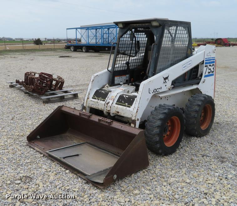 1998 Bobcat 763 Skid Steer Item Dc0993 Sold April 19 Co