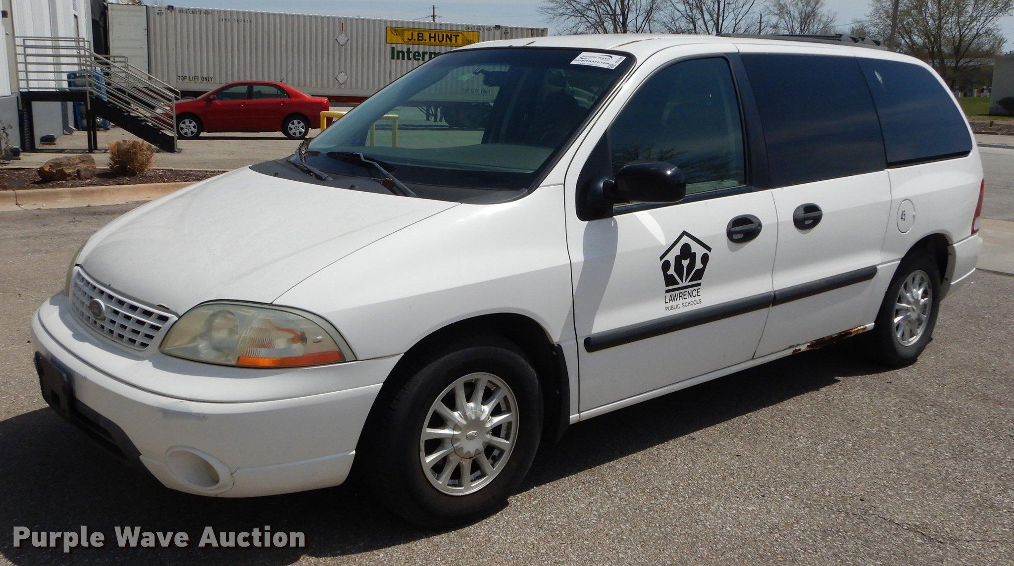 2002 ford windstar lx van in lawrence ks item dc0386 sold purple wave 2002 ford windstar lx van in lawrence