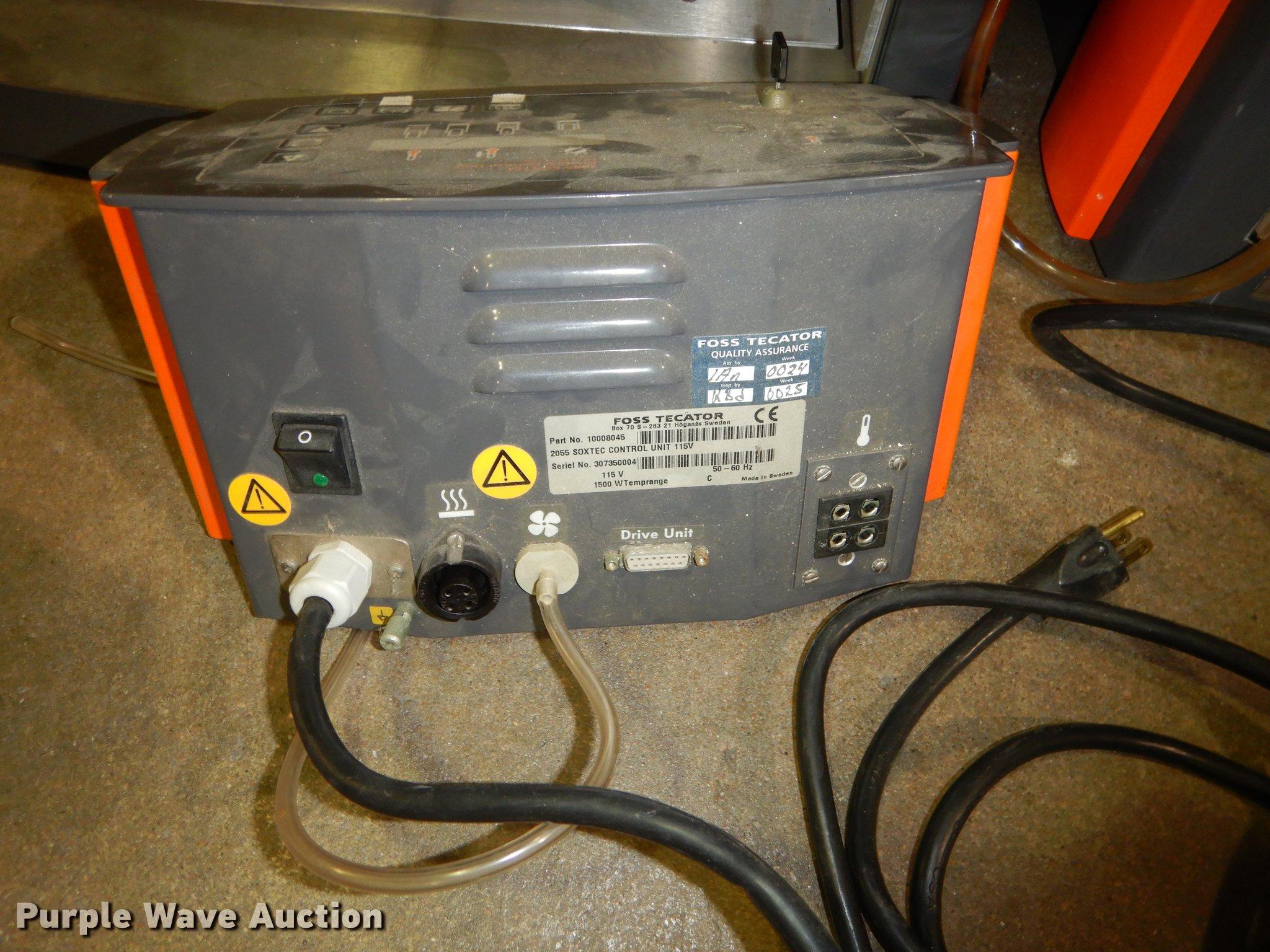 2) Avanti 2055 Soxtec Manual Foss Tec-ator extraction units...