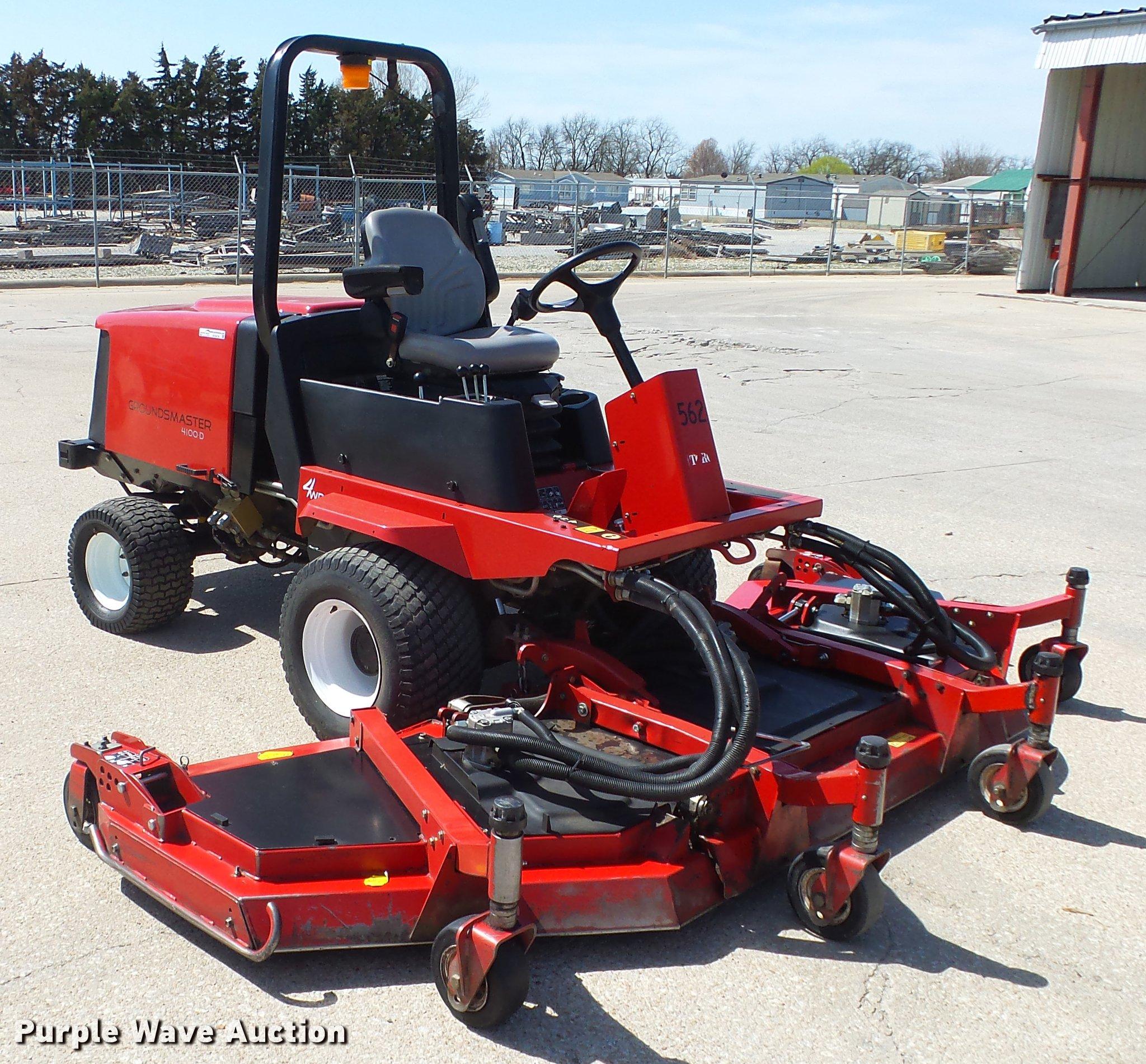 Toro Groundsmaster 4100 Ztr Lawn Mower Item Ex9036 5 1