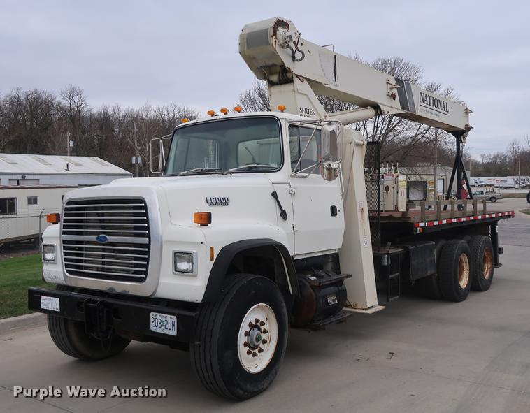 Crane Truck For Sale >> 1994 Ford L8000 Crane Truck Item Ep9314 Sold May 17 Con
