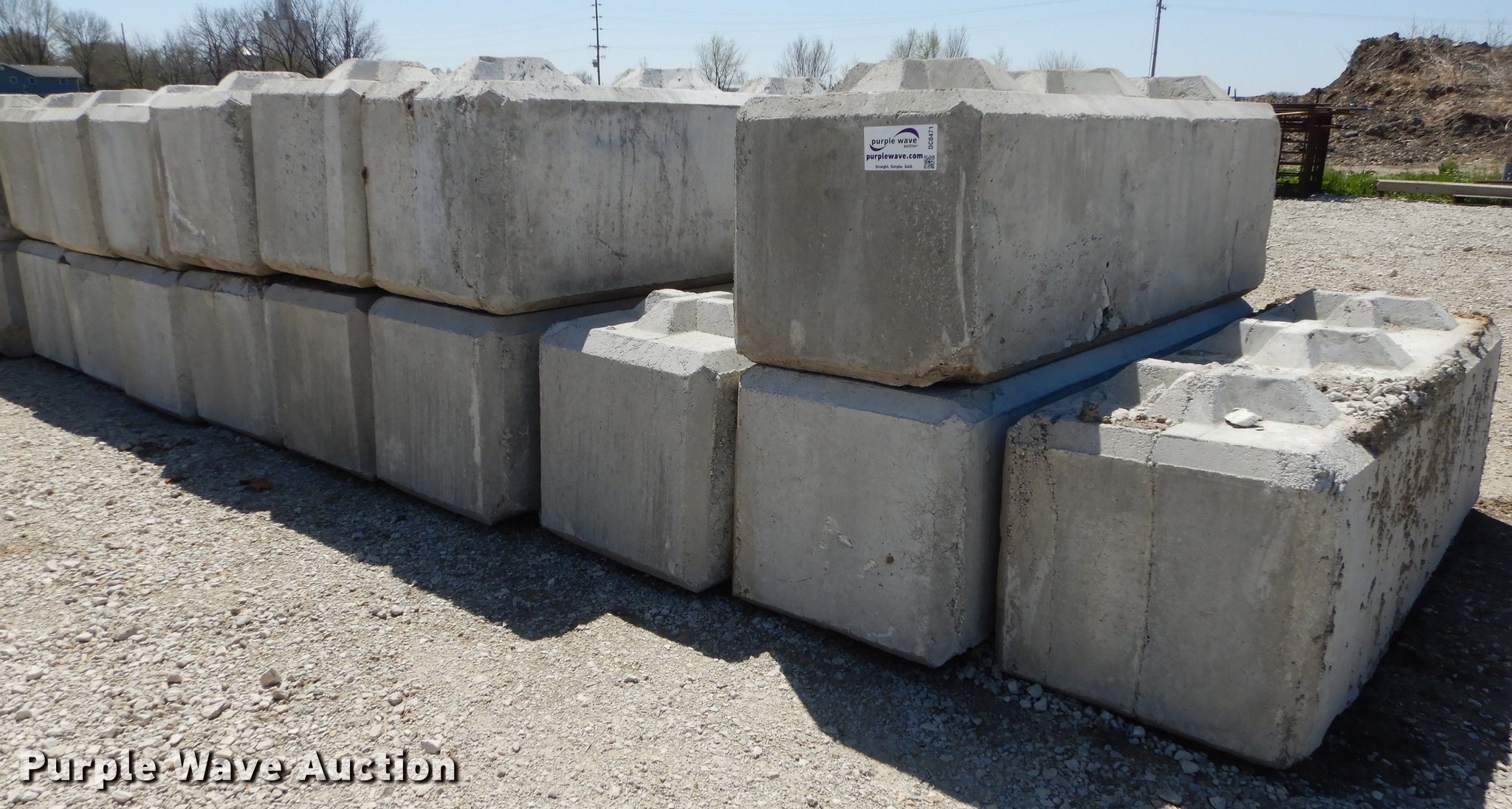 20) concrete bunker blocks | Item DC0471 | SOLD! May 17 Con