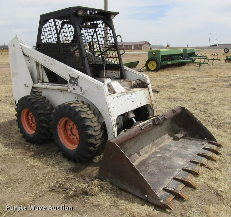 Array - 1987 bobcat 843 skid steer   item de6756   sold  may 23 ag e     rh   purplewave com