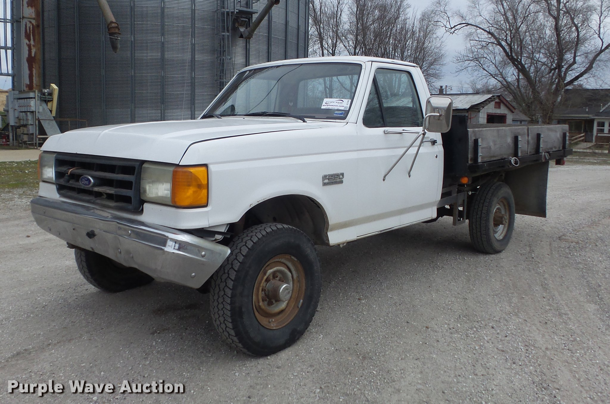 1988 Ford F350 Flatbed Pickup Truck Item Dc7363 Sold Ma