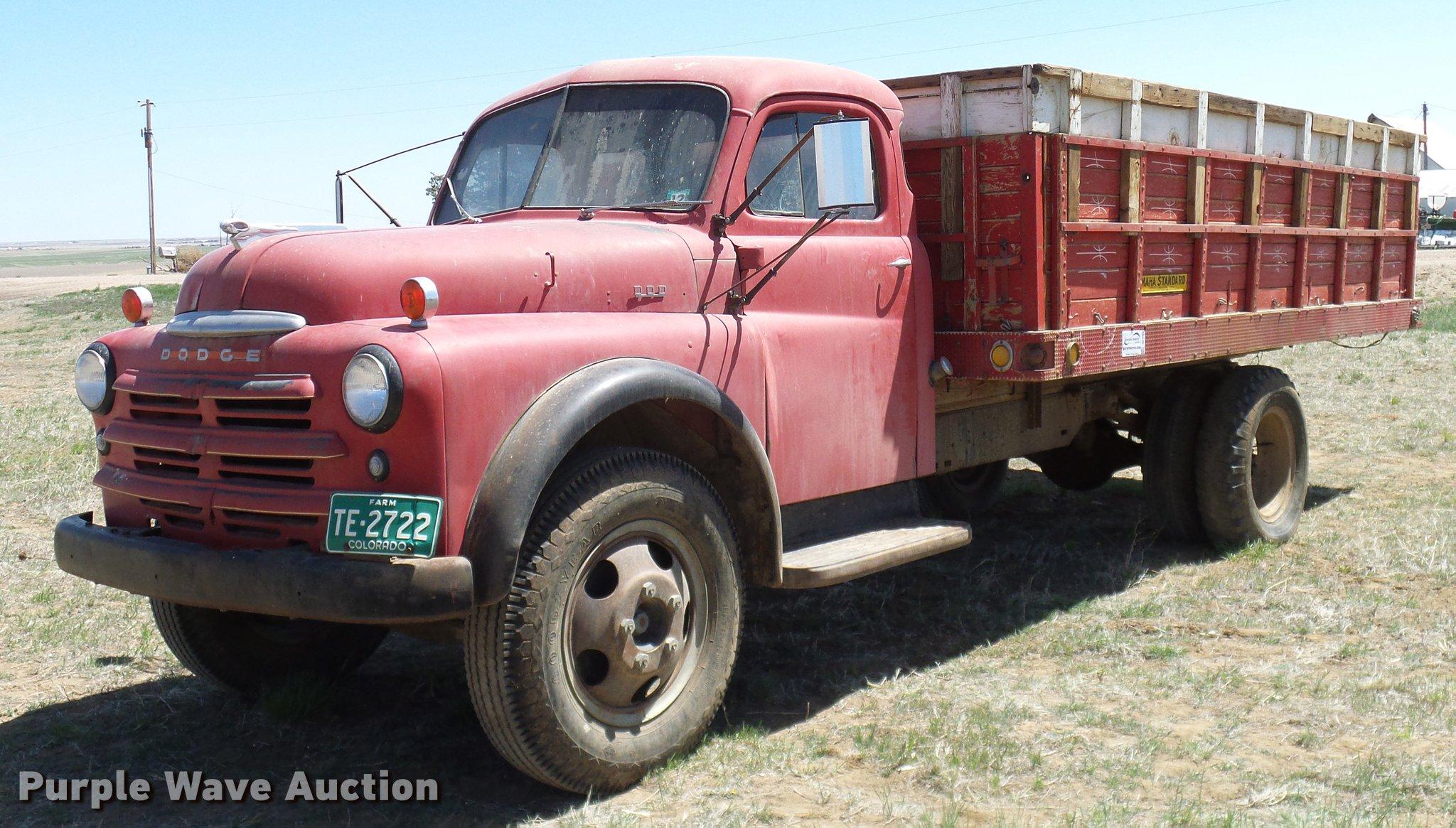 dodge grain trucks for sale 1 Dodge B-1-JA1 grain truck in Hudson, CO  Item DD1 sold