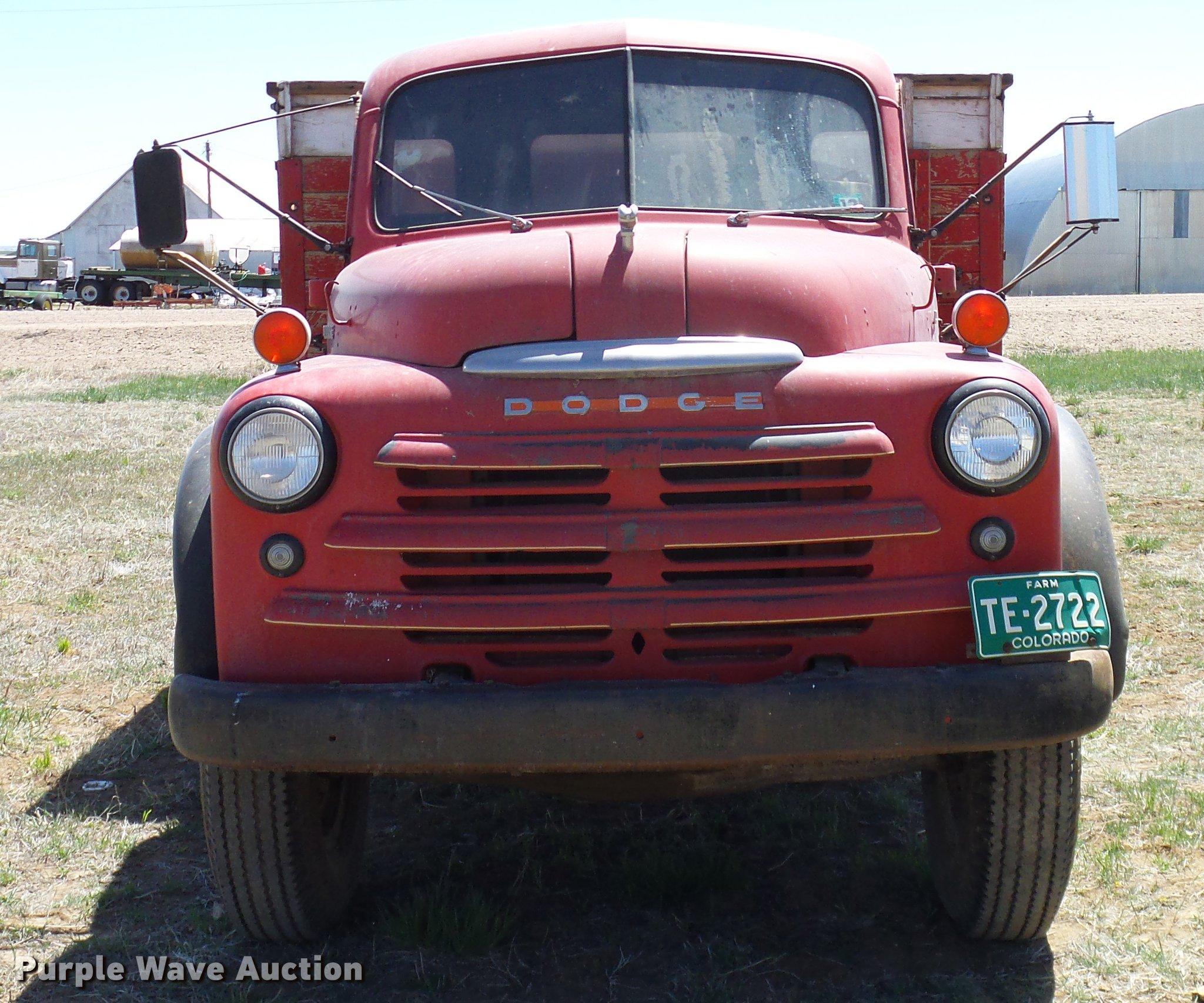 1948 Dodge B 1 Ja170 Grain Truck Item Dd1259 Sold May 2 Ford Full Size In New Window