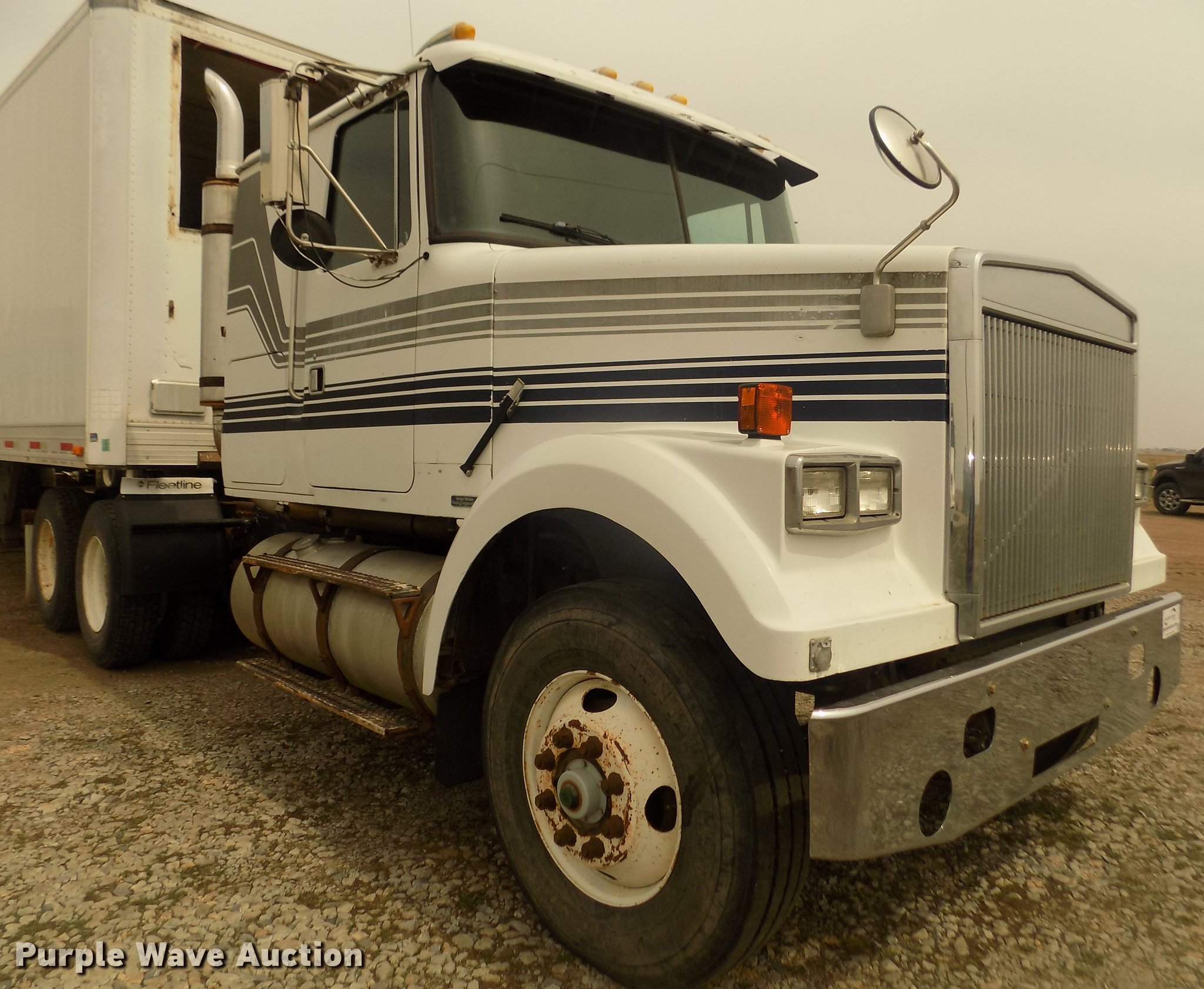 1987 white volvo wim semi truck item dd2794 sold may 24