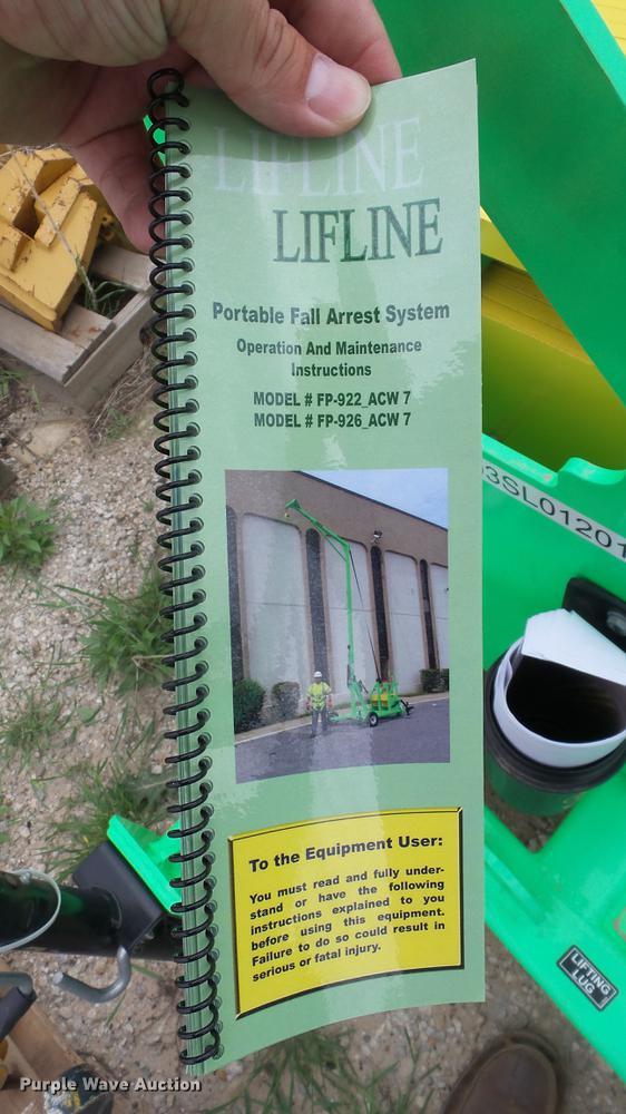 Lifeline Fp 926 Acw7 Fall Arrest System Item Ds9000 Sold