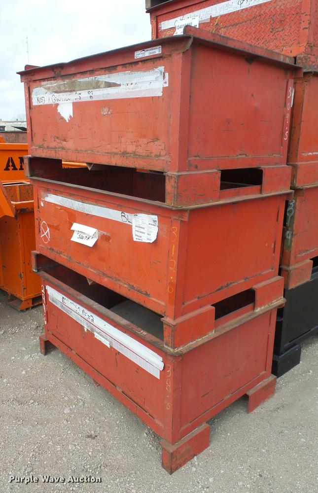 G1140 Image For Item G1140 (10) Steel Storage Bins