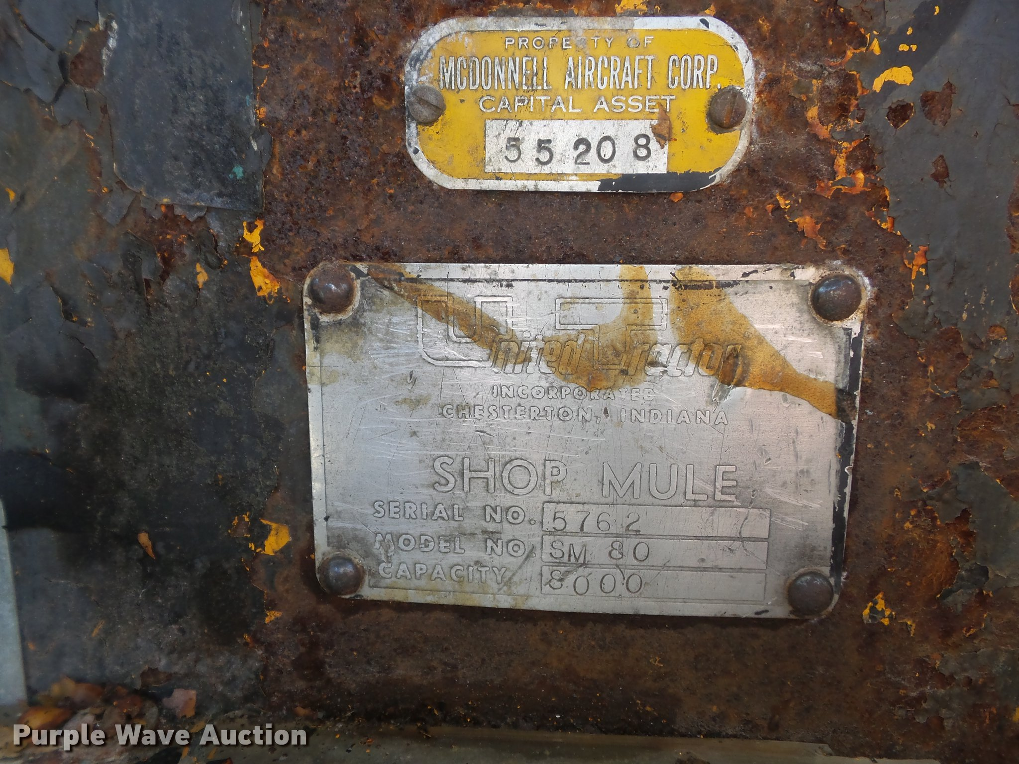 United Tractor SM80 Shop Mule aircraft tug   Item DC7314   S