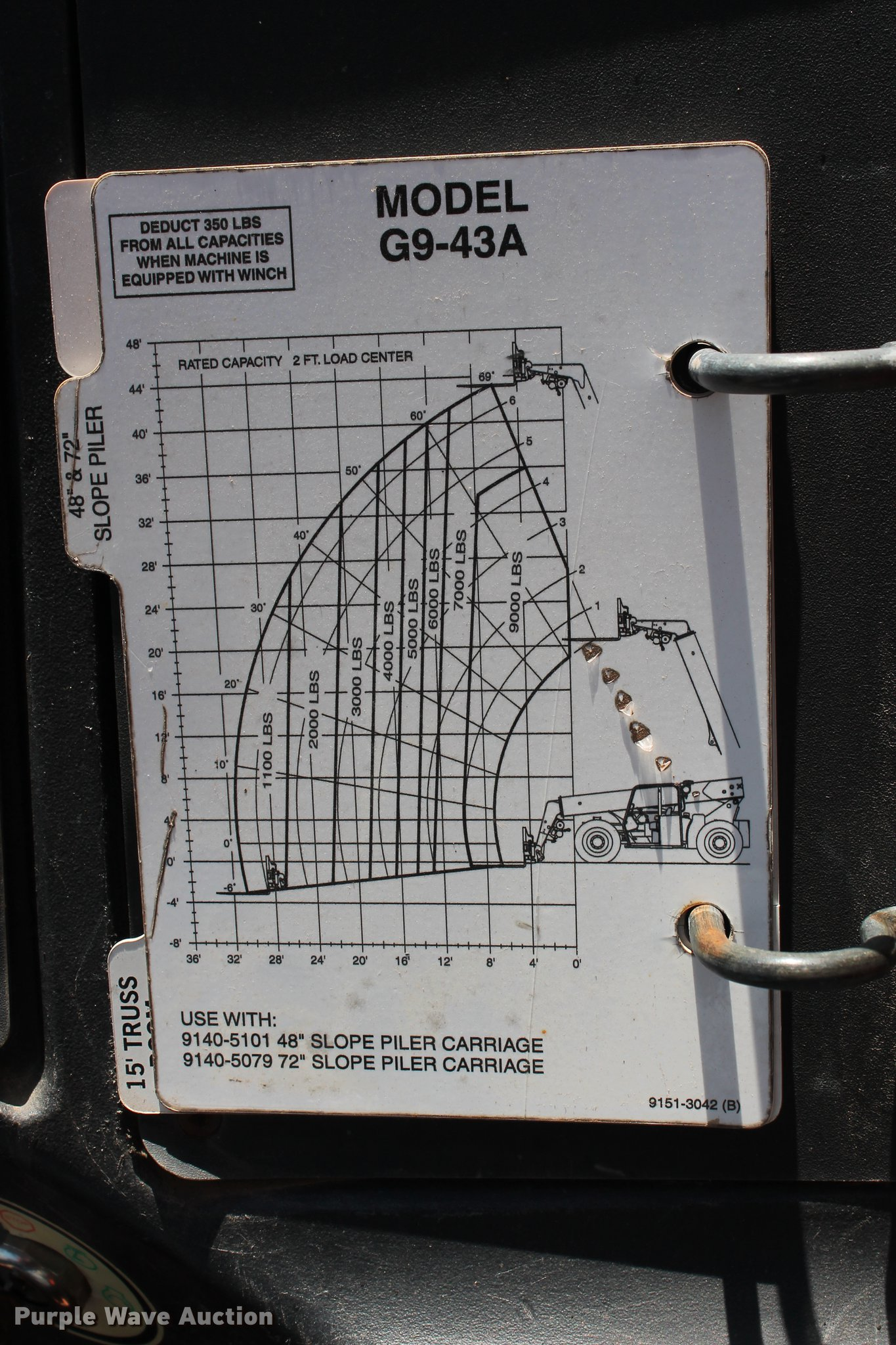 2004 Jlg Gradall G9 43a Telehandler Item Db5206 Sold Ma 20am Wiring Diagram Full Size In New Window
