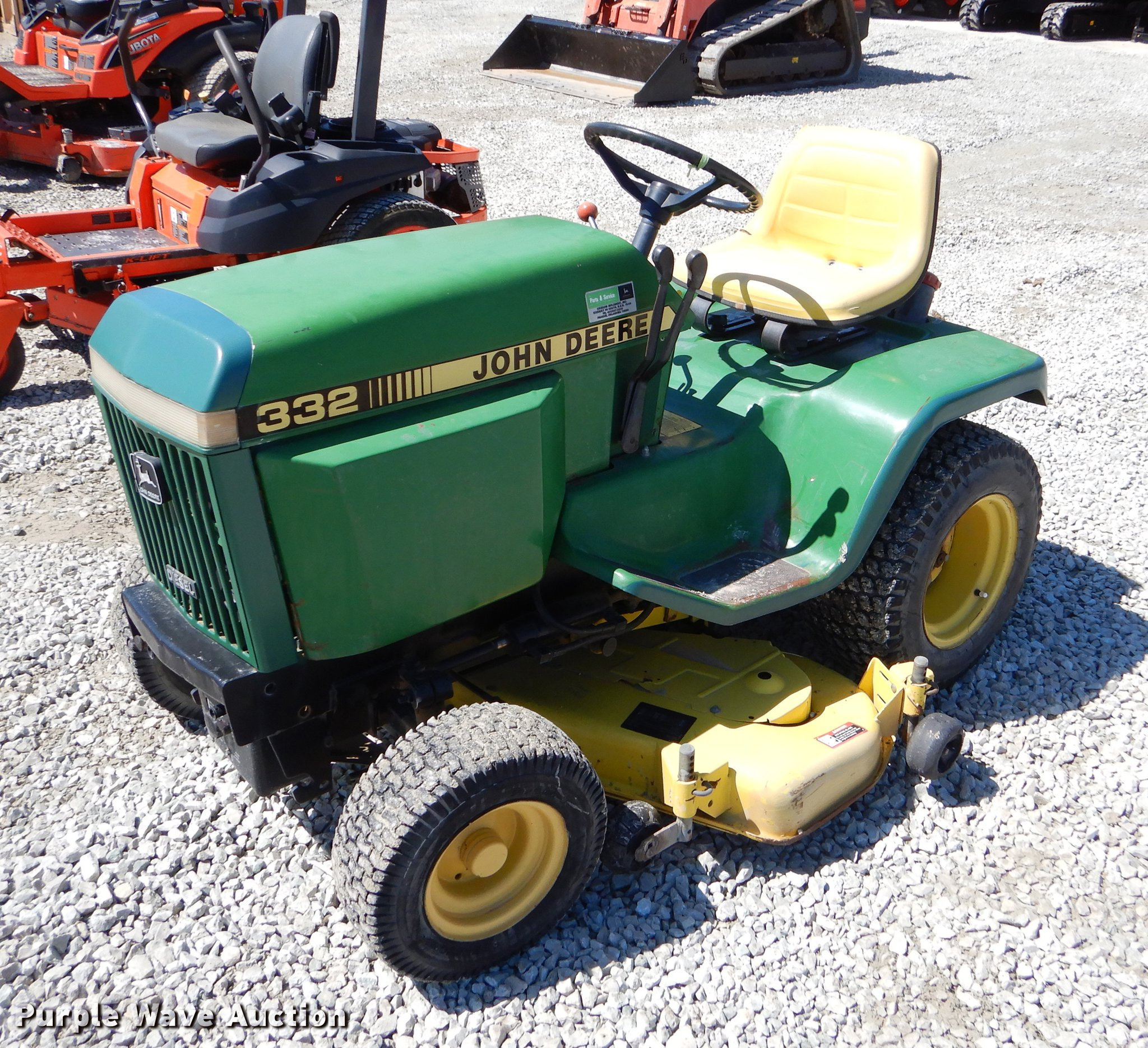 John Deere 332 lawn mower   Item EI9020   SOLD! June 12 Grea