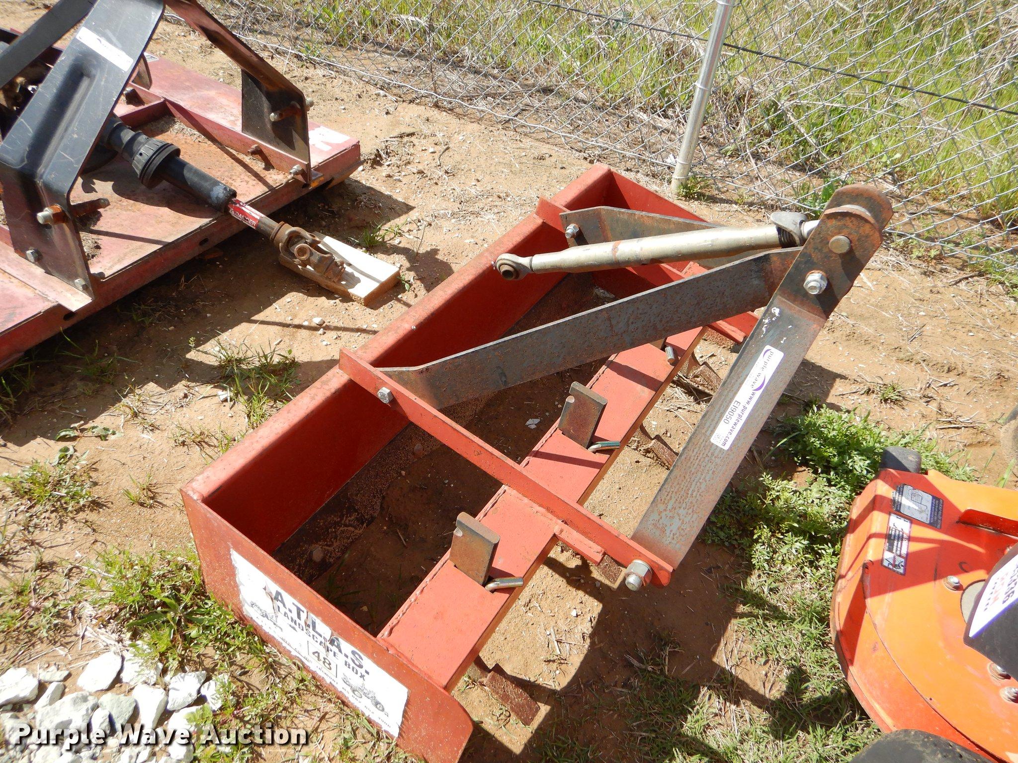 Atlas box blade   Item EI9050   SOLD! June 12 Great Plains K