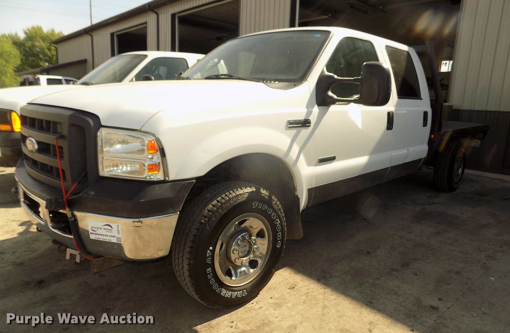 2006 Ford F250 Super Duty Xl Crew Cab Flatbed Pickup Truck F 250 Db8743 Image For Item