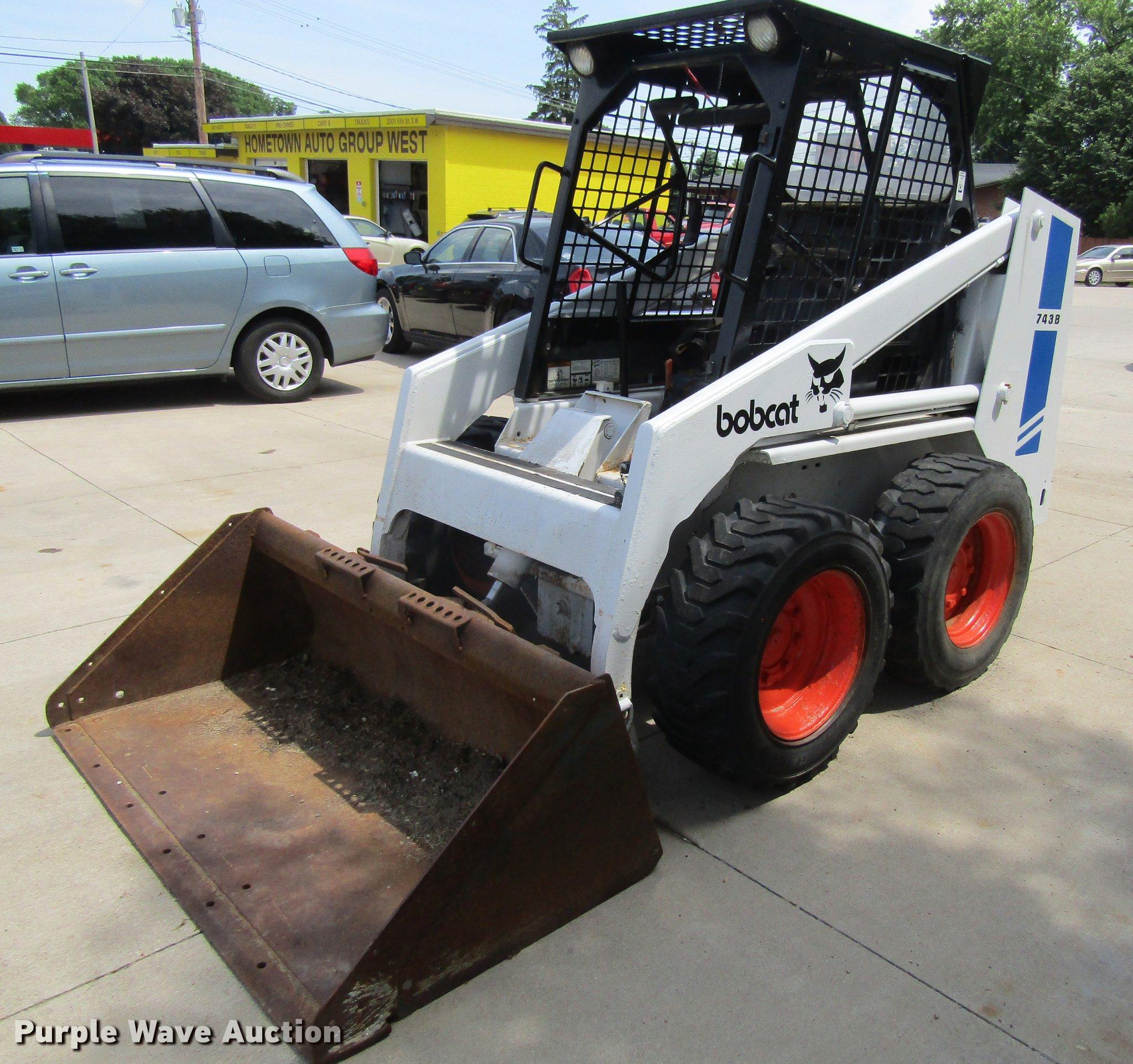 1991 Bobcat 743b Skid Steer Item Df3810 Sold June 28 Co