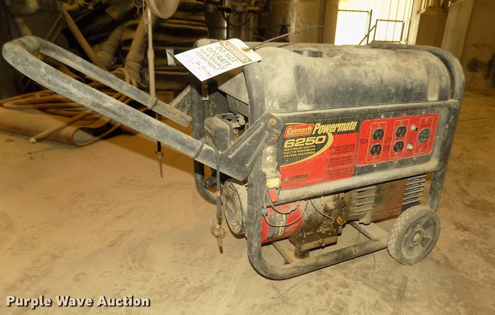 Coleman Powermate 6250 generator | Item DZ9508 | SOLD! June