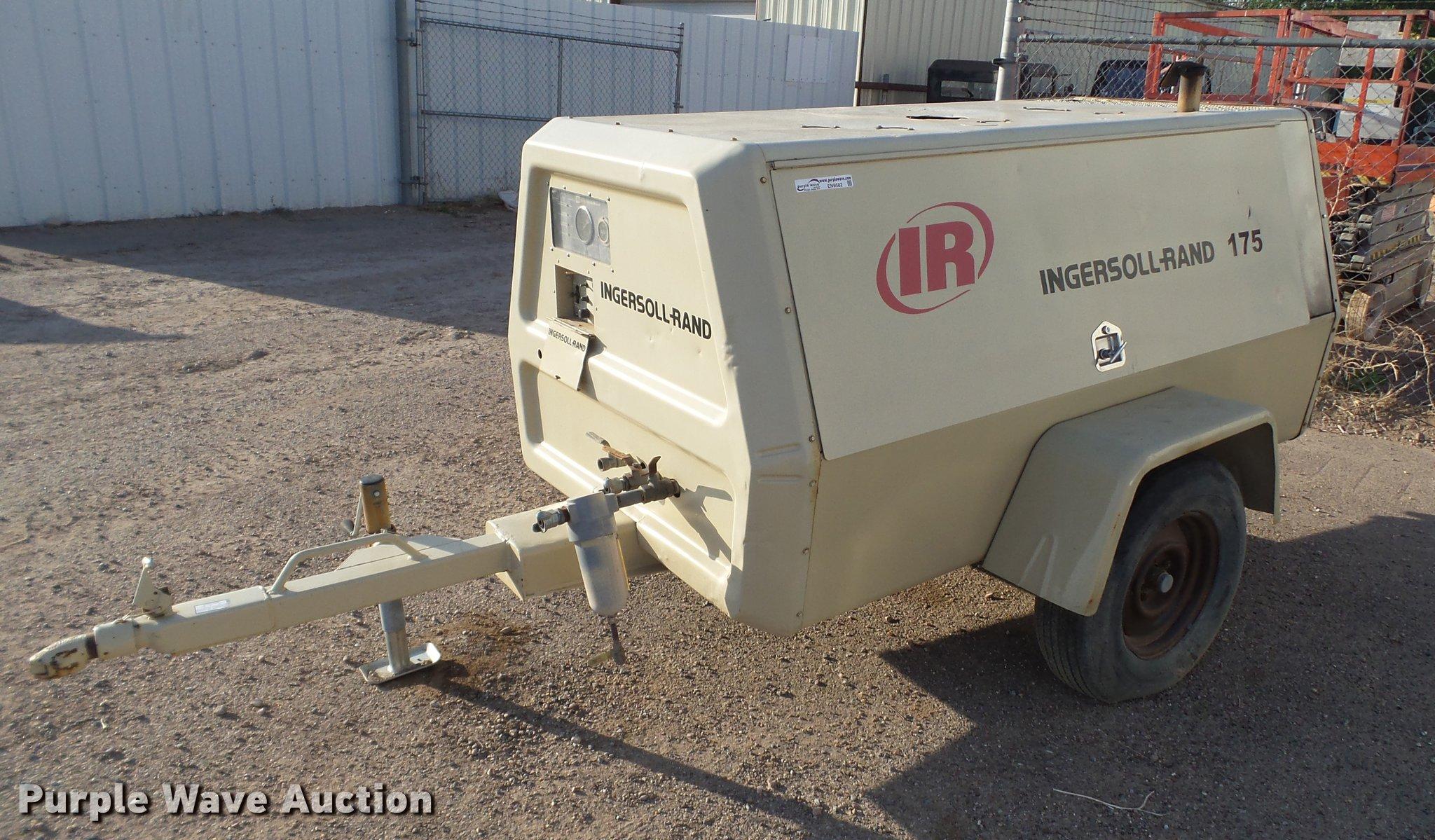 EN9582 image for item EN9582 Ingersoll Rand 175 air compressor