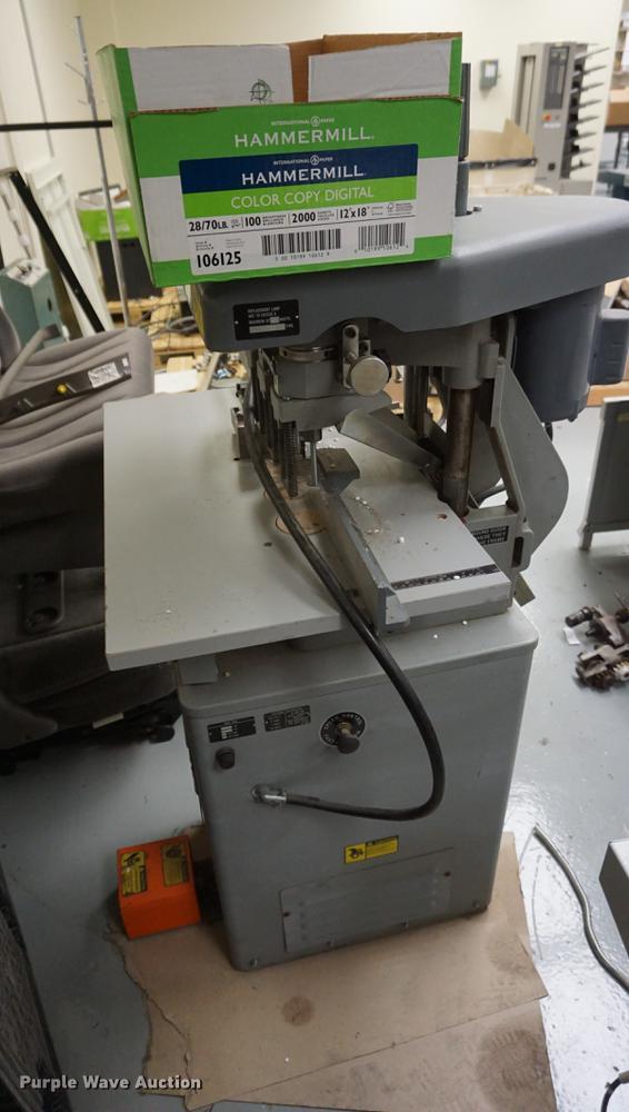challenge eh3a paper drilling machine item ej9333 sold rh purplewave com