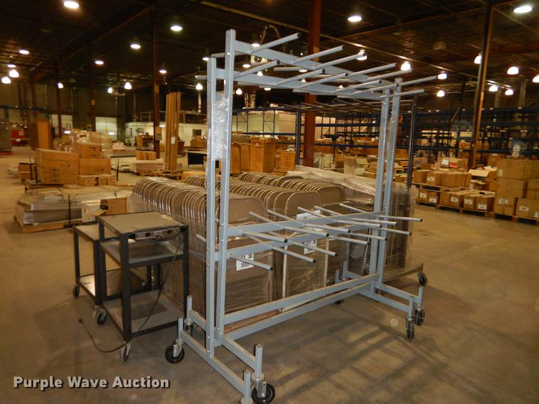 Folding Chairs And Chair Racks Item Es9810 Sold July 10