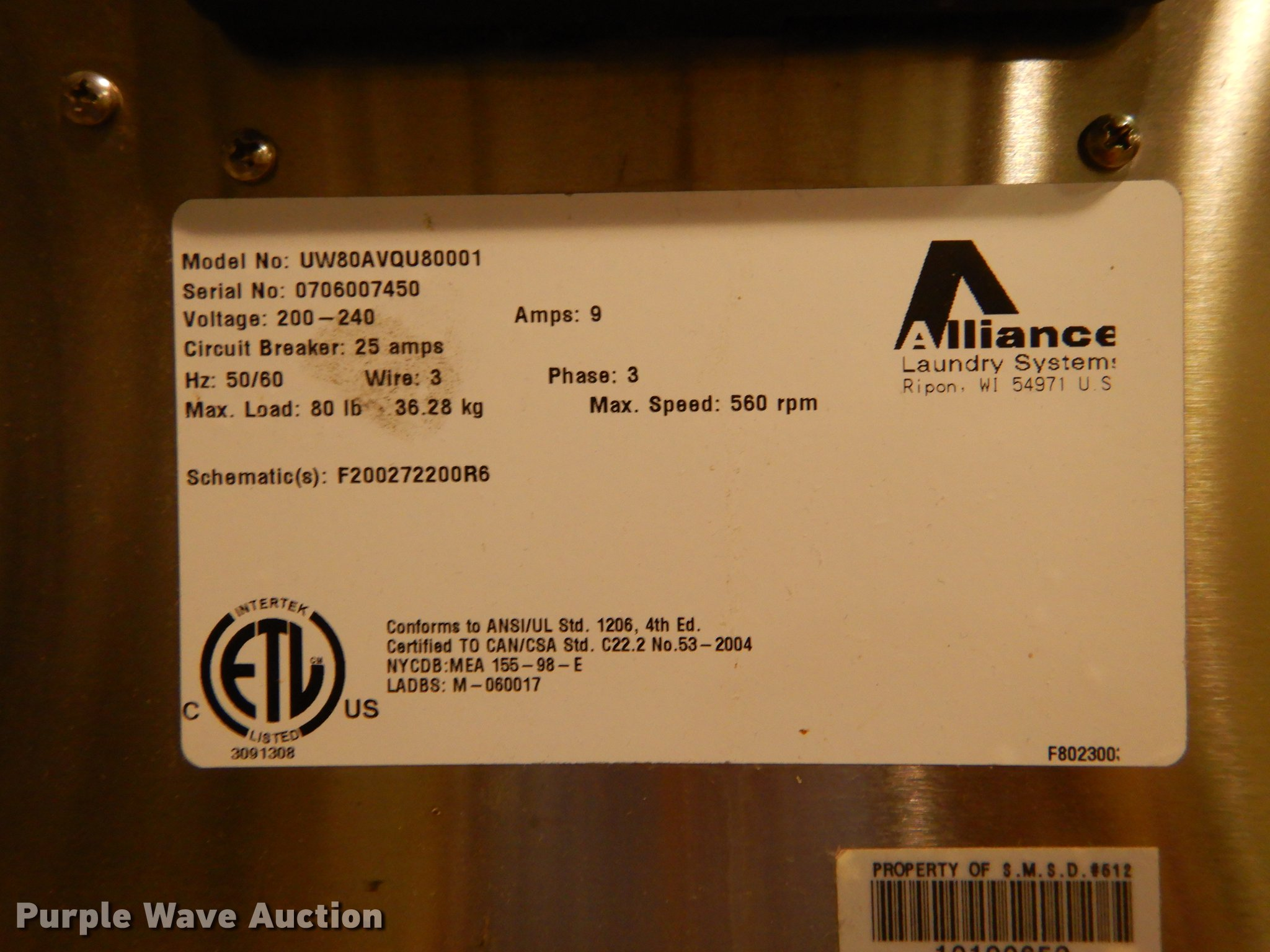 3 Washers Item Es9781 Sold July 10 Government Auction 2004 Load Max Trailer Wiring Schematic Full Size In New Window