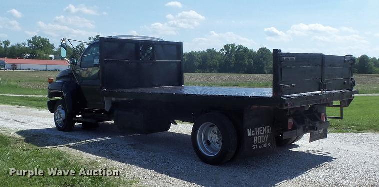 2004 gmc c4500 flat dump bed truck item dd7174 sold jul Chevy Kodiak Truck dd7174 image for item dd7174 2004 gmc c4500 flat dump bed truck