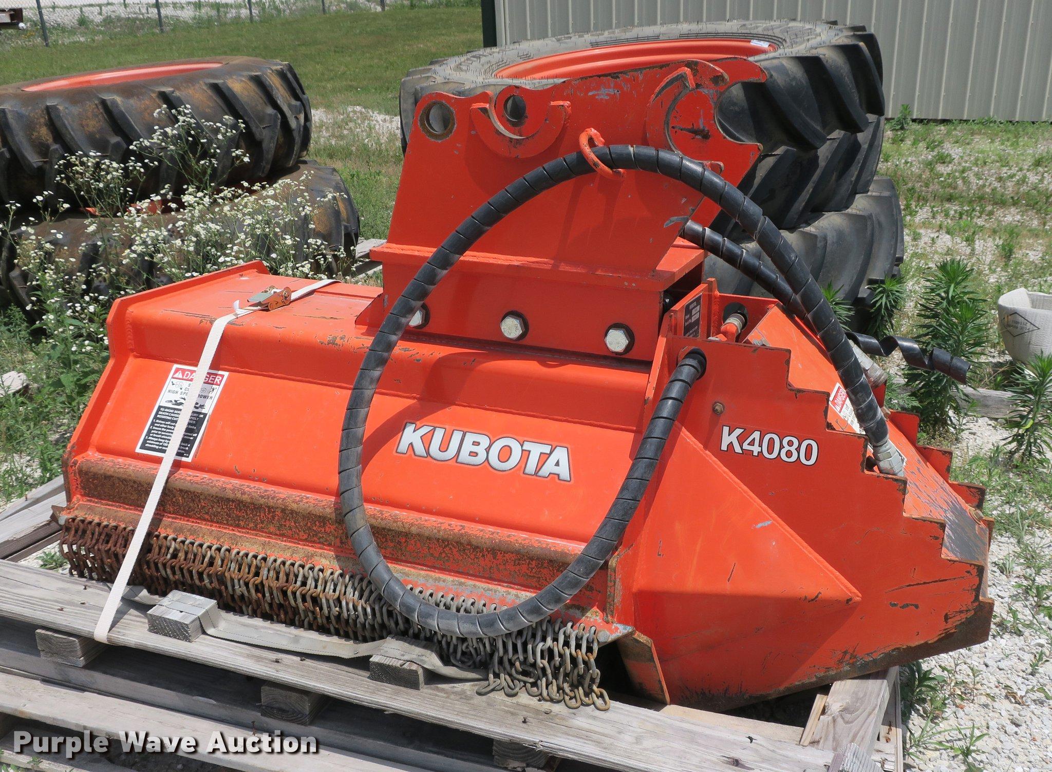 Kubota K4080 excavator brush mower | Item EO9311 | SOLD! Jul