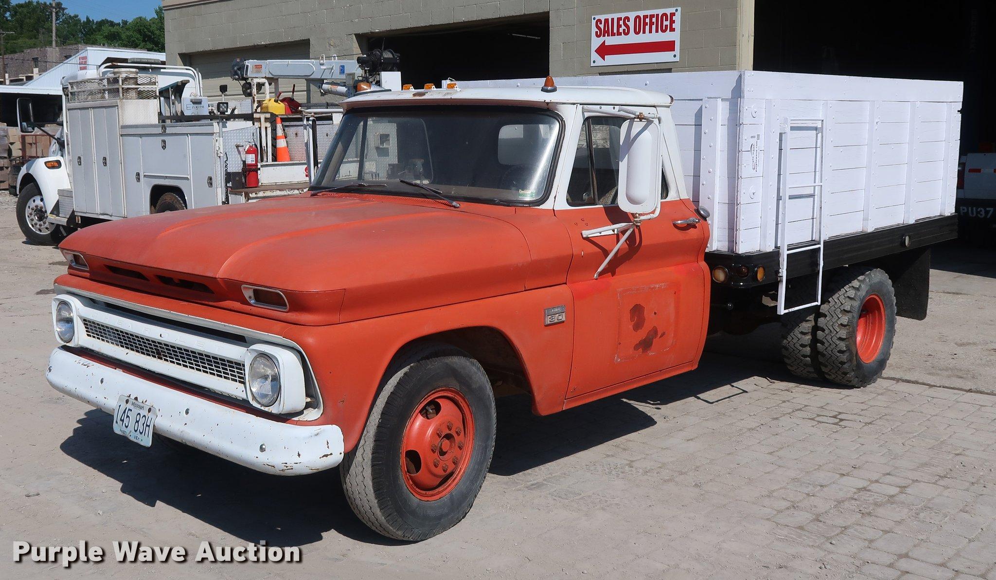 1966 Chevrolet 30 Grain Truck Item De6085 Sold August 1 Chevy C10 Trucks For Sale Image