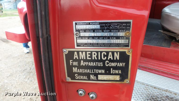 1964 Ford 600 fire truck | Item DF4281 | SOLD! August 7 Gove