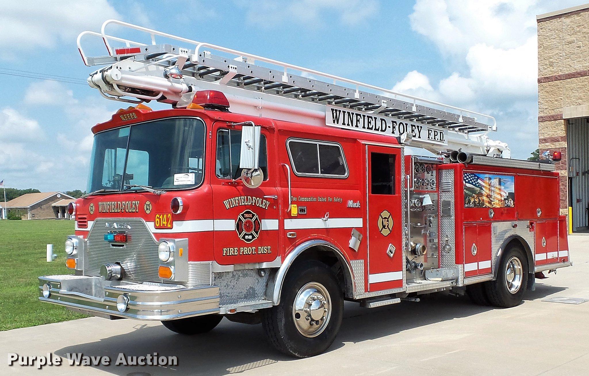 1988 Mack CF688FC fire truck   Item DD7250   SOLD! August 7