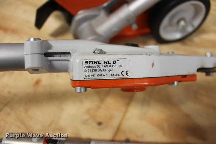 Stihl HT86C pole saw with hedge clipper and edge trimmer att