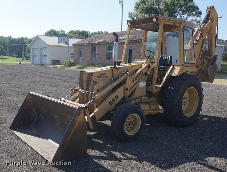 Ford 555 Special backhoe   Item DD7811   SOLD! August 30 Con