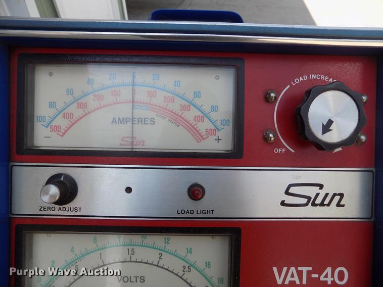 sun vat 40 amp tester item er9065 sold september 11 gov rh purplewave com Alternator Tester sun vat 60 user manual