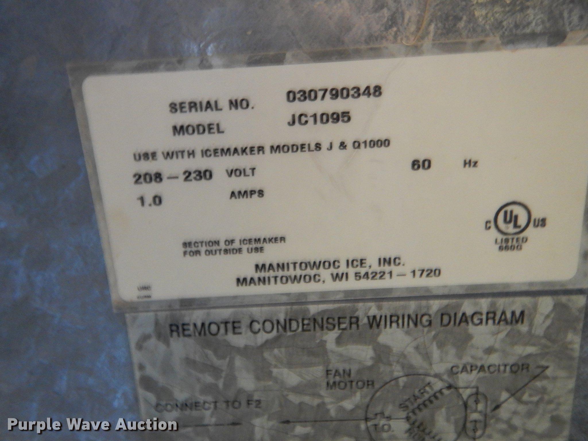 Manitowoc S970 ice machine | Item EM9563 | SOLD! September 1... on