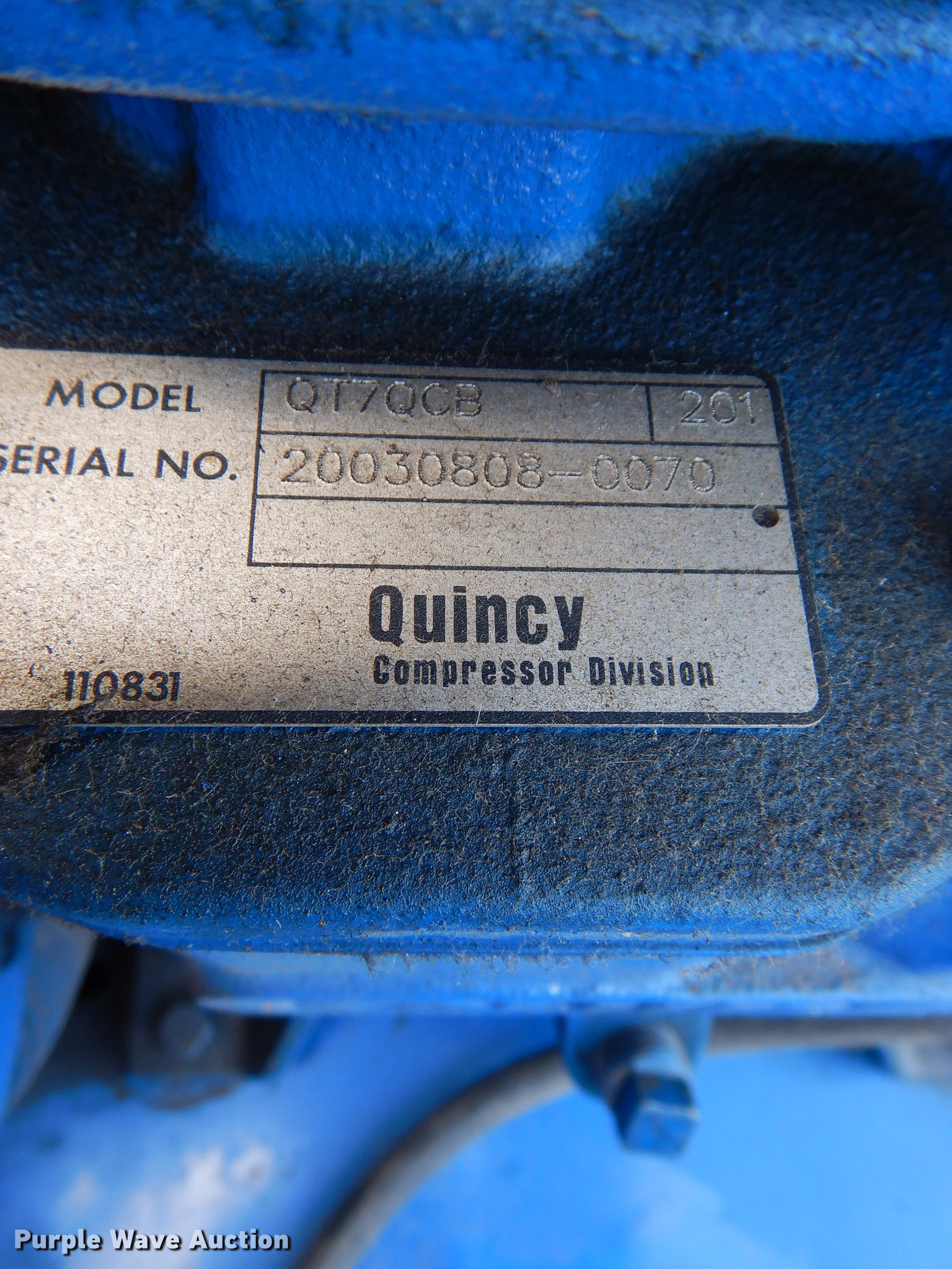 2003 Quincy Air Compressor Item Em9630 Sold September 1 Wiring Diagram Full Size In New Window