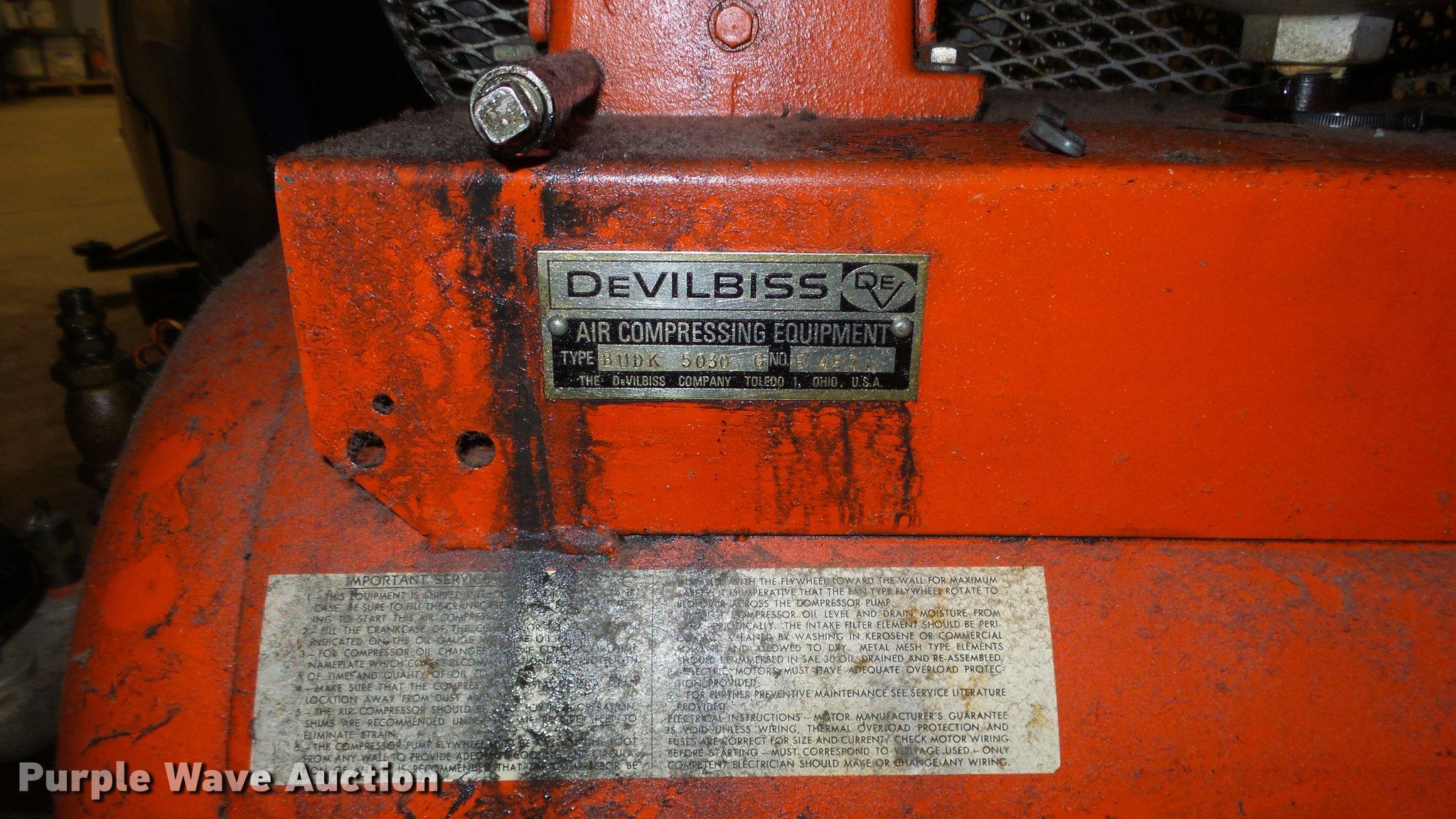 Devilbiss Air Compressor Item Er9628 Sold September 11 Commercial Wiring Full Size In New Window
