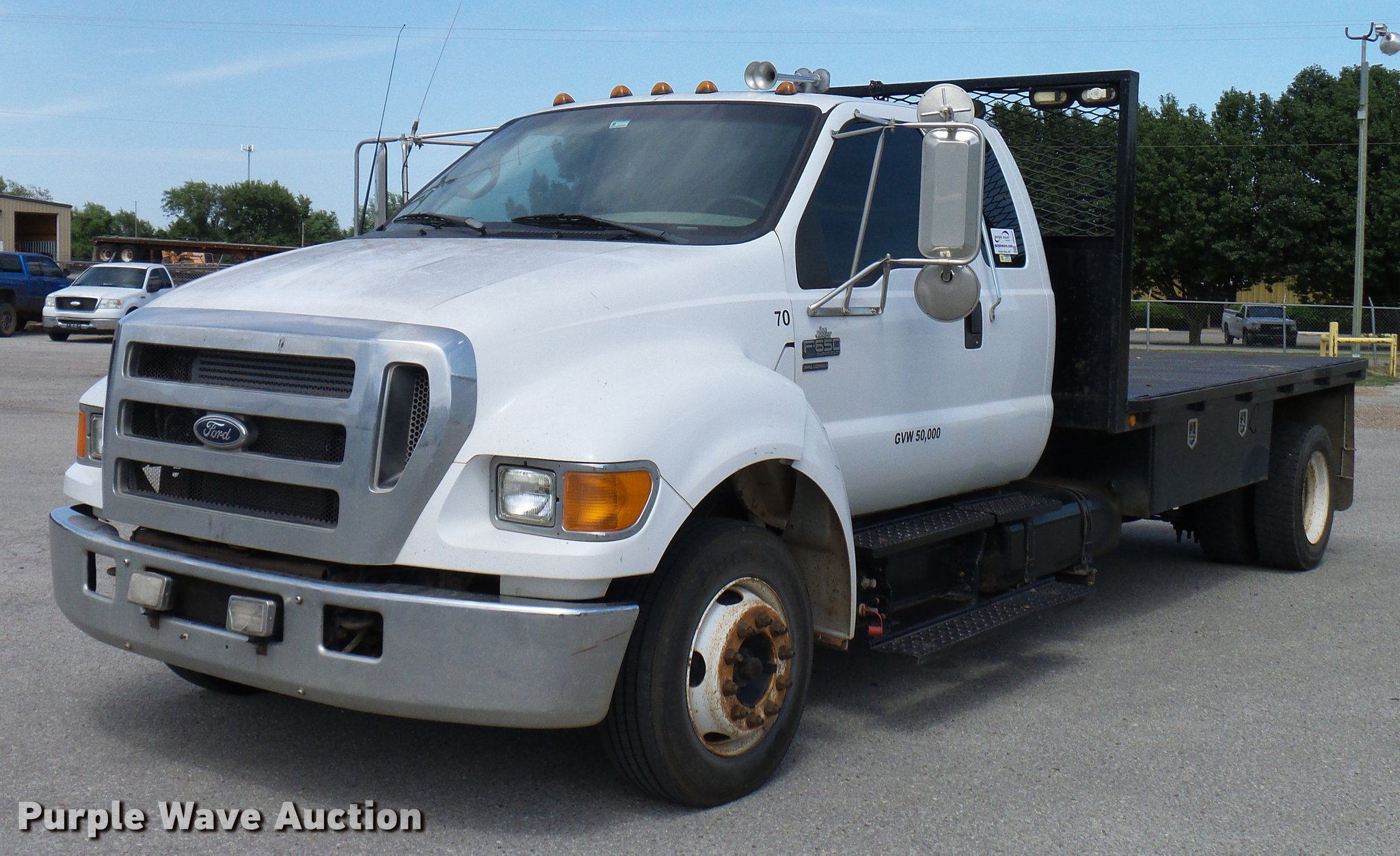 Ford F650 Xlt Super Duty >> 2005 Ford F650 Super Duty Xlt Flatbed Truck Item Dd8347