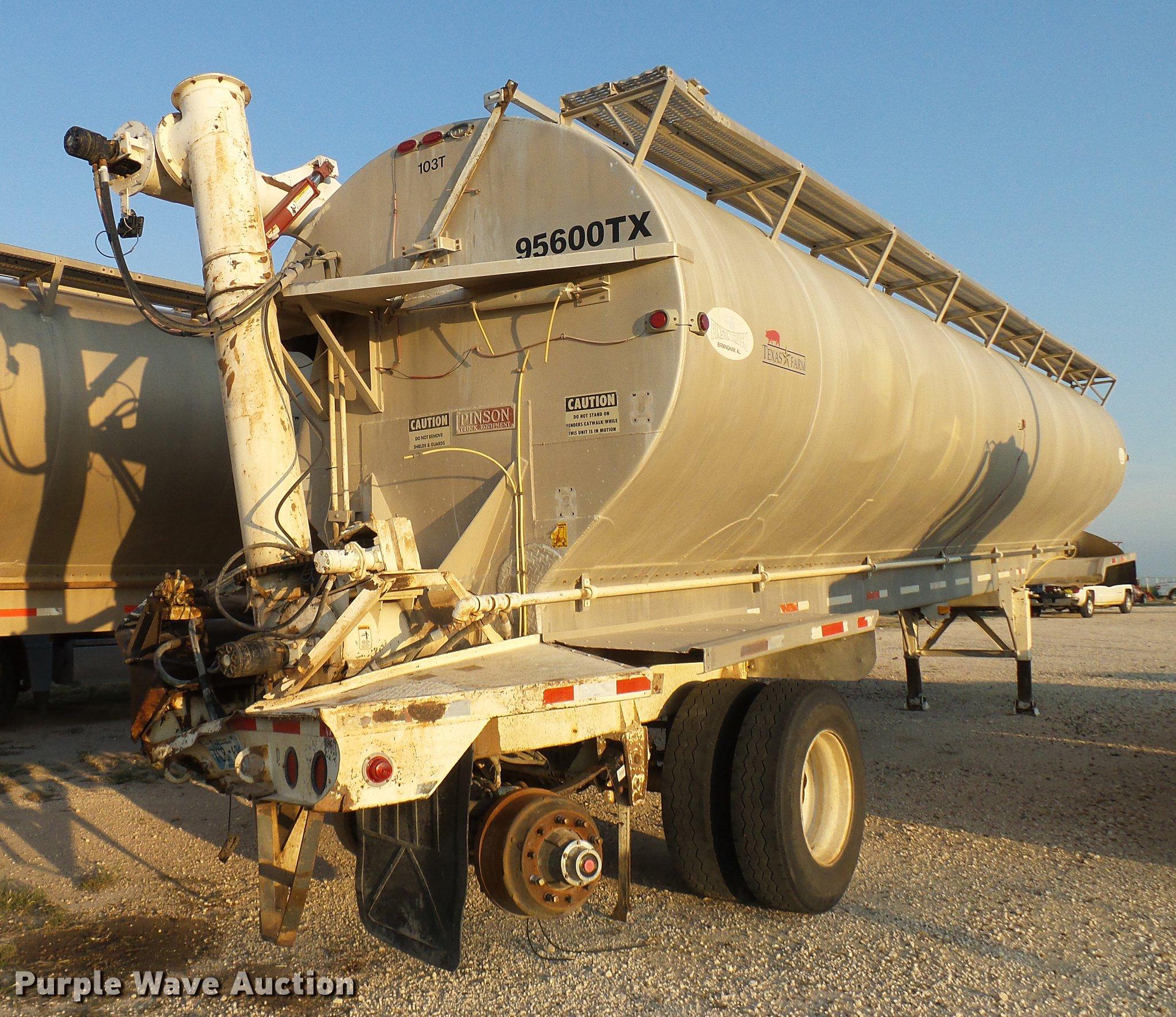2005 Pinson bulk feed trailer | Item DD8381 | SOLD! Septembe