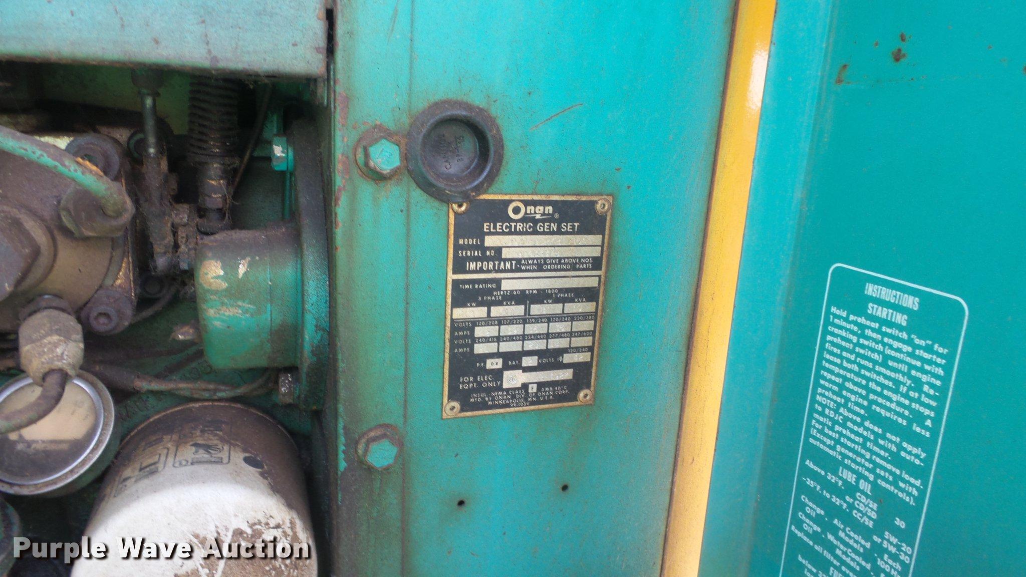 Onan Generator Starter Removal