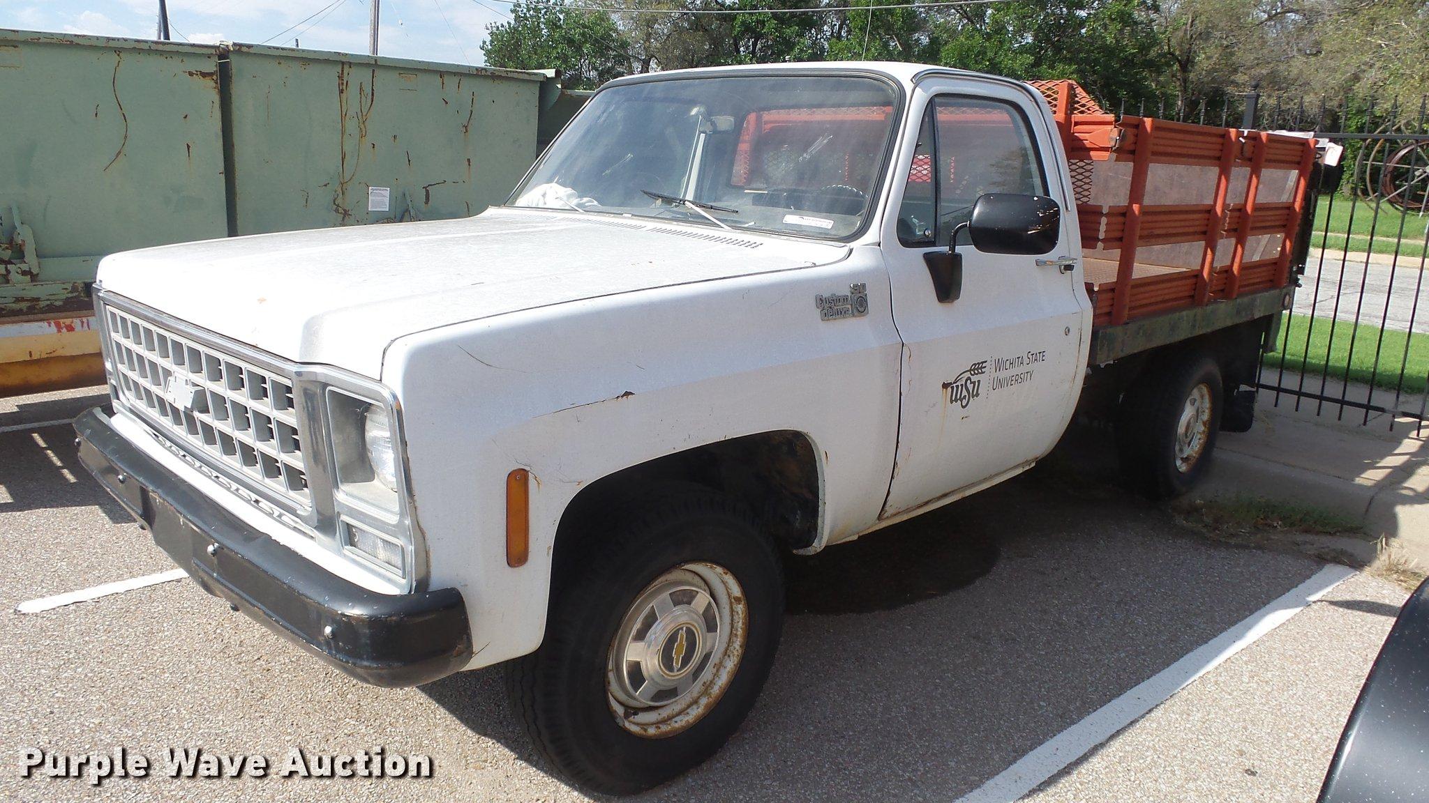 1980 Chevrolet Custom Deluxe 30 Flatbed Pickup Truck In Wichita Ks Item Bl9028 Sold Purple Wave