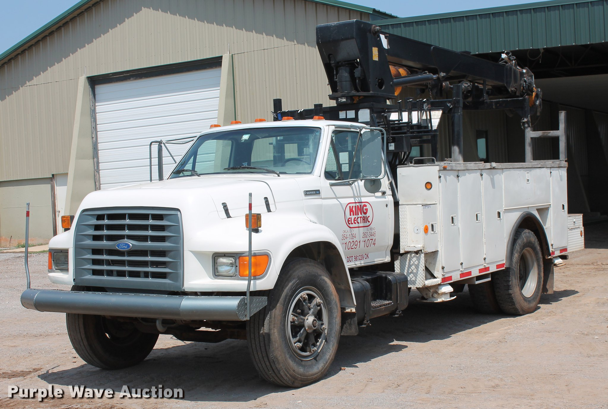 ... 1996 Ford F800 digger derrick truck Full size in new window ...