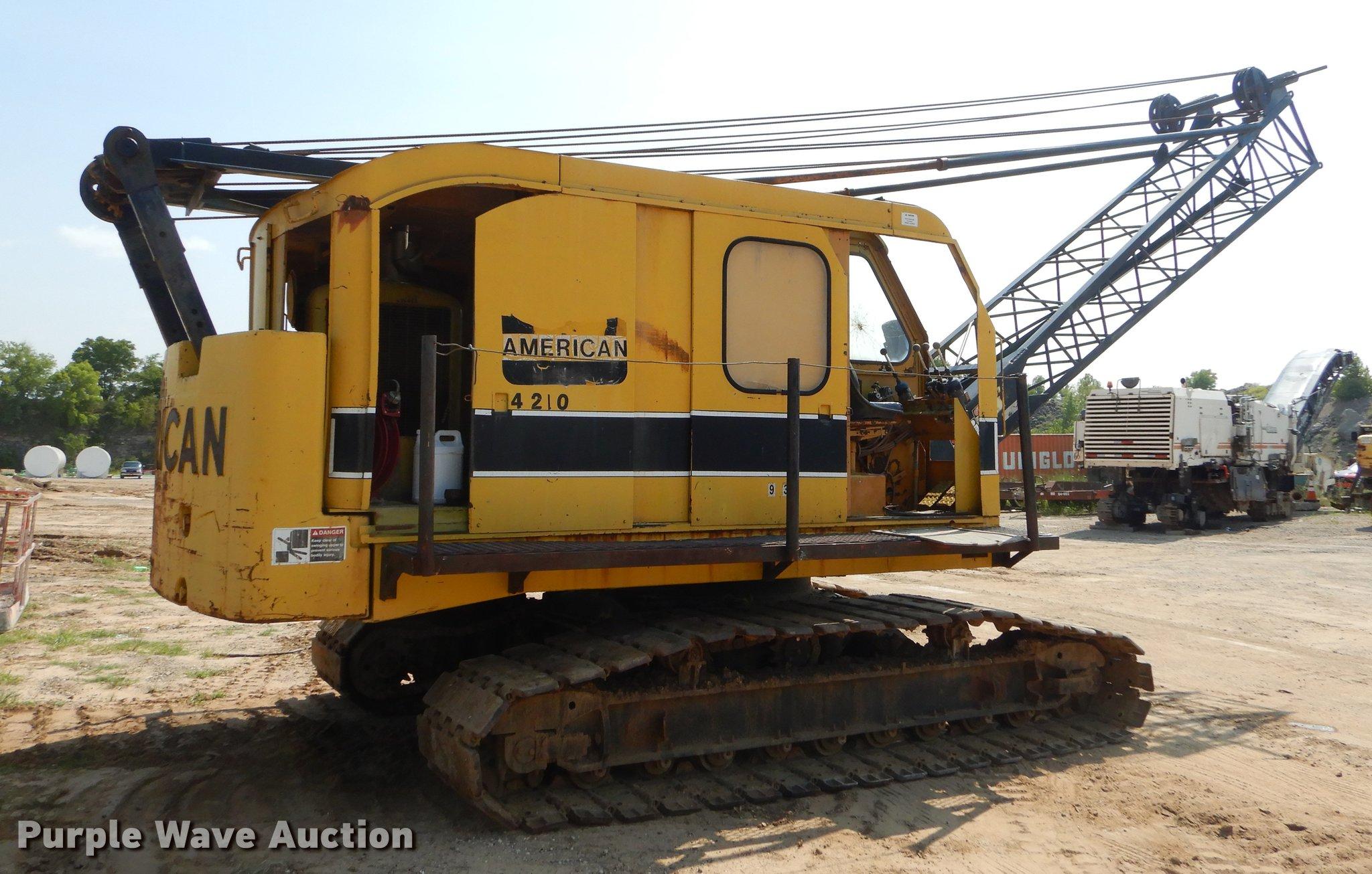 American 4210 crane   Item EK9748   SOLD! September 27 Const