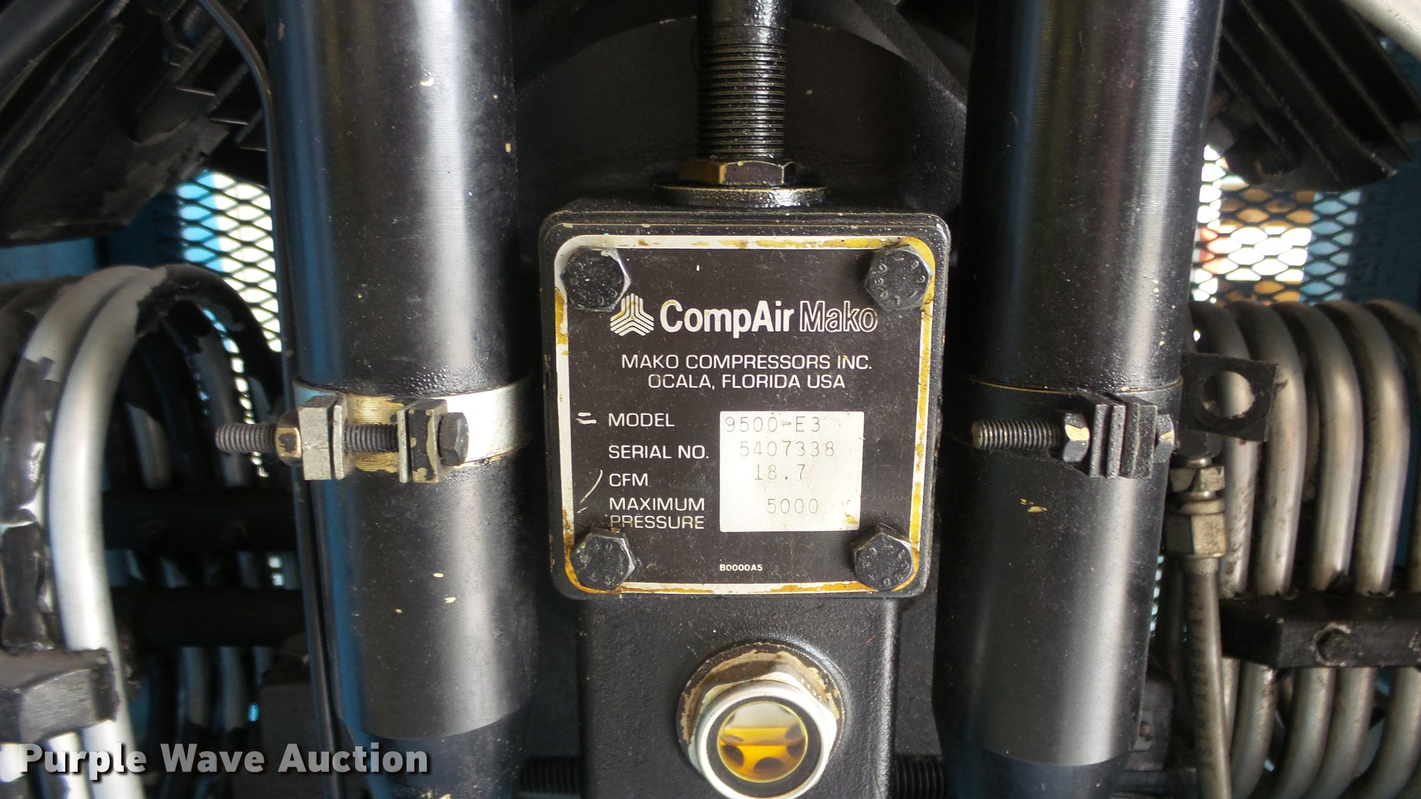 Mako CompAir breathing air compressor | Item ES9471 | SOLD!