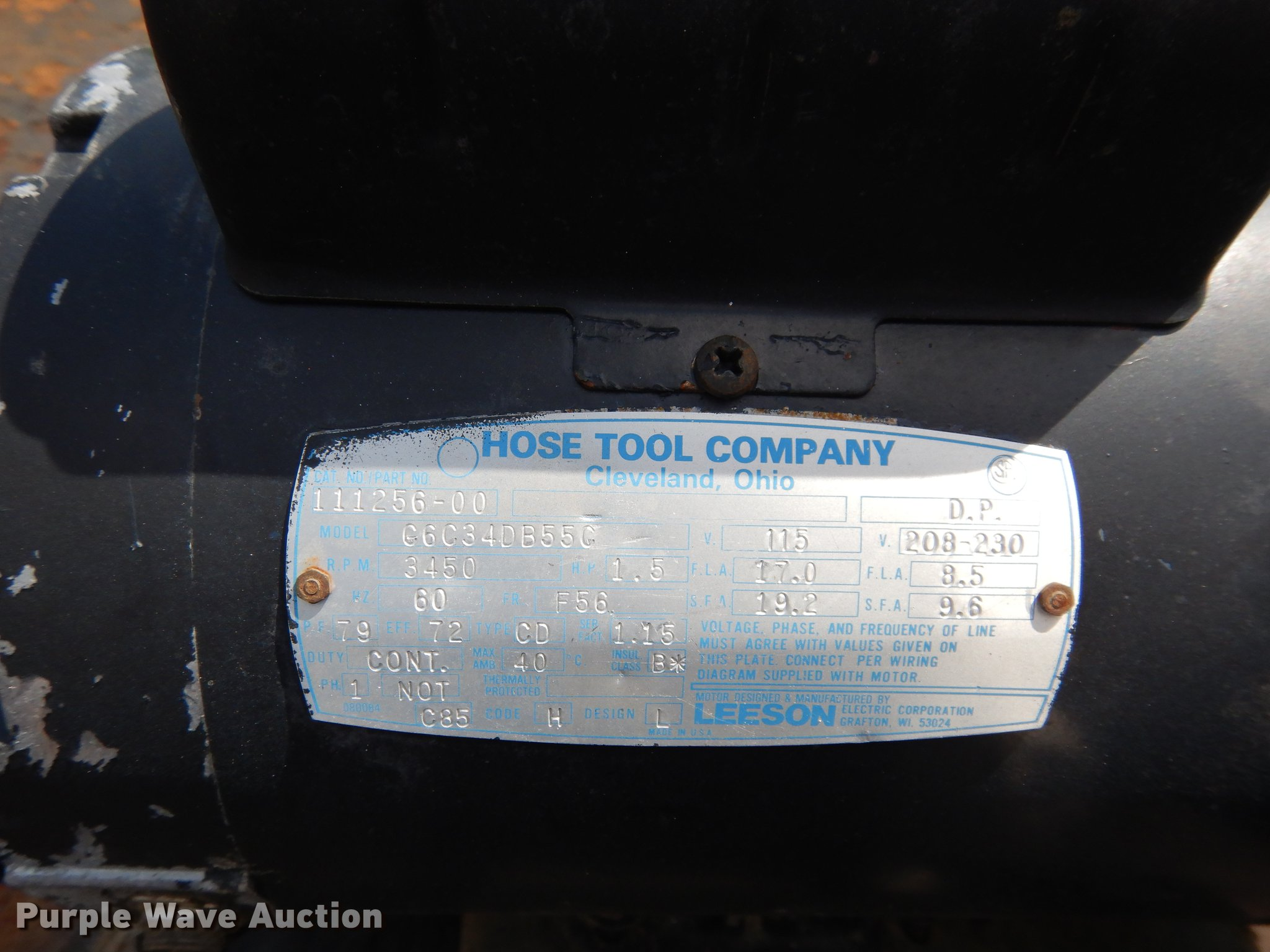 Hydraulic Hose Fabrication Bench Item Dk9856 Sold Octob Cleveland Motor Wiring Diagram Full Size In New Window